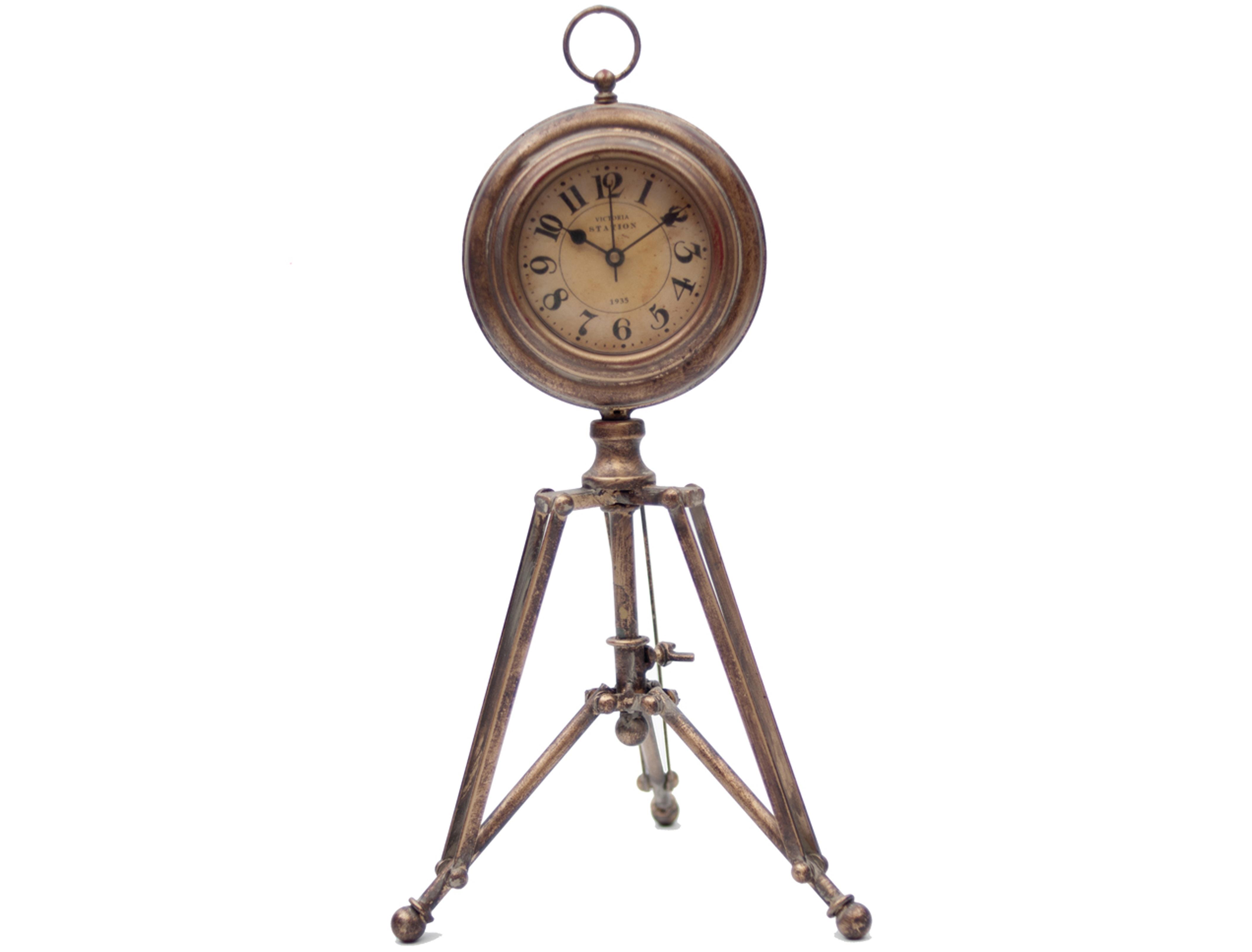 Часы Victoria StationНастольные часы<br>Батарейки типа AА.<br><br>Material: Железо<br>Length см: None<br>Width см: None<br>Height см: 37<br>Diameter см: 22