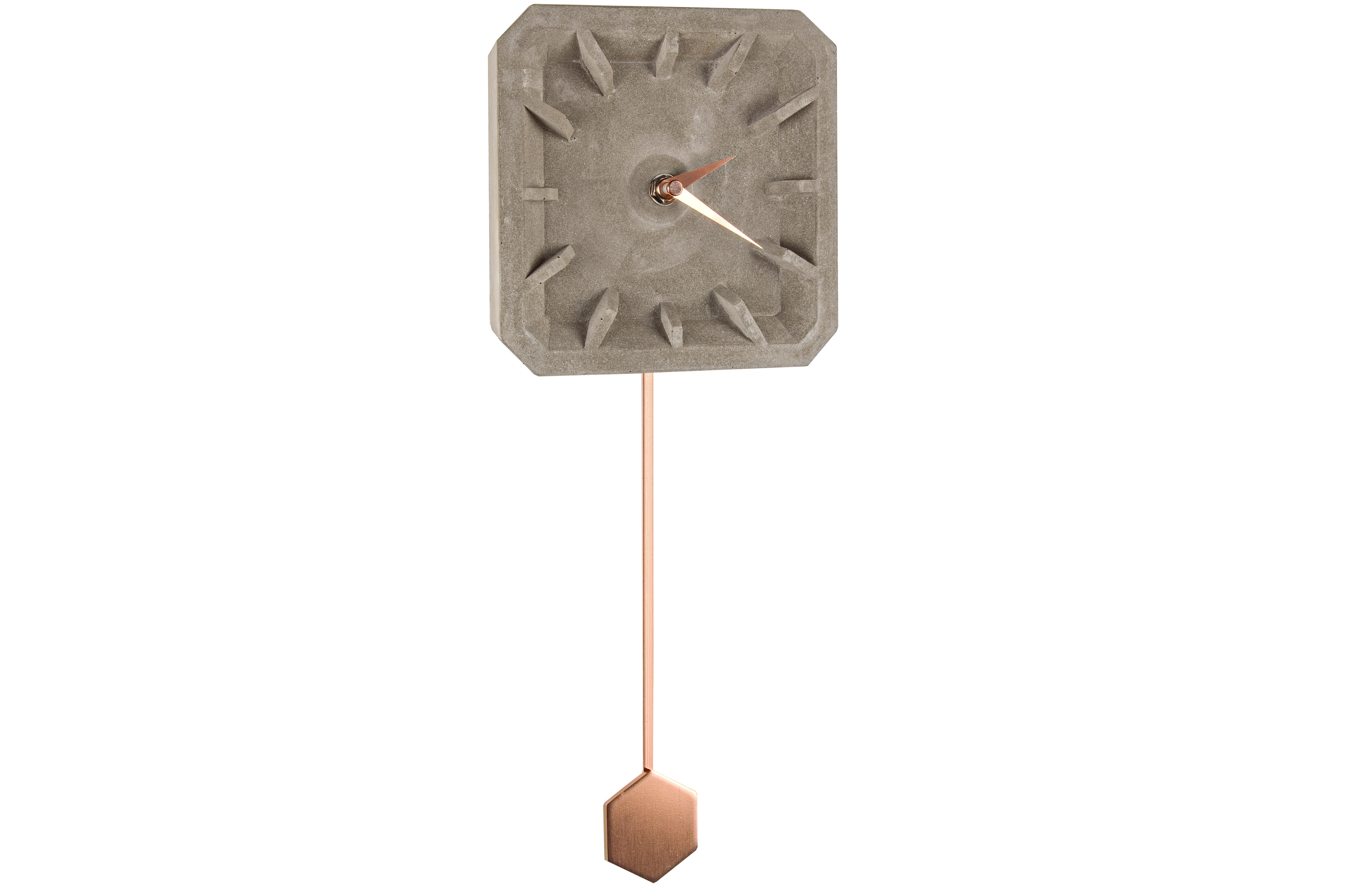 Часы настенныеНастенные часы<br>Батарейки типа AА.<br><br>Material: Цемент<br>Length см: None<br>Width см: 15<br>Depth см: 4,5<br>Height см: 38,5
