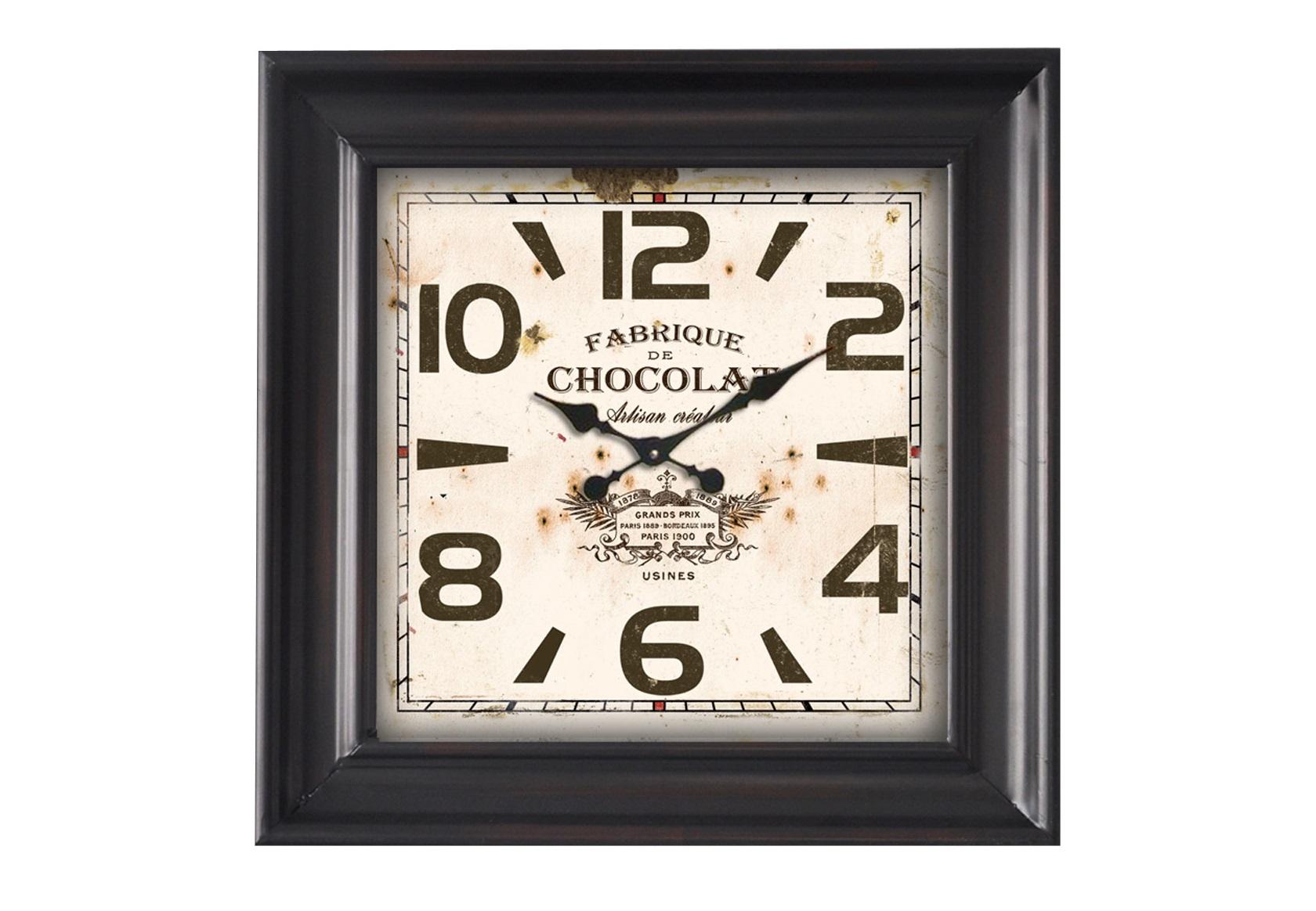 Настенные часы ChocolatНастенные часы<br>Батарейки типа AА.<br><br>Material: Железо<br>Ширина см: 47<br>Высота см: 47<br>Глубина см: 9