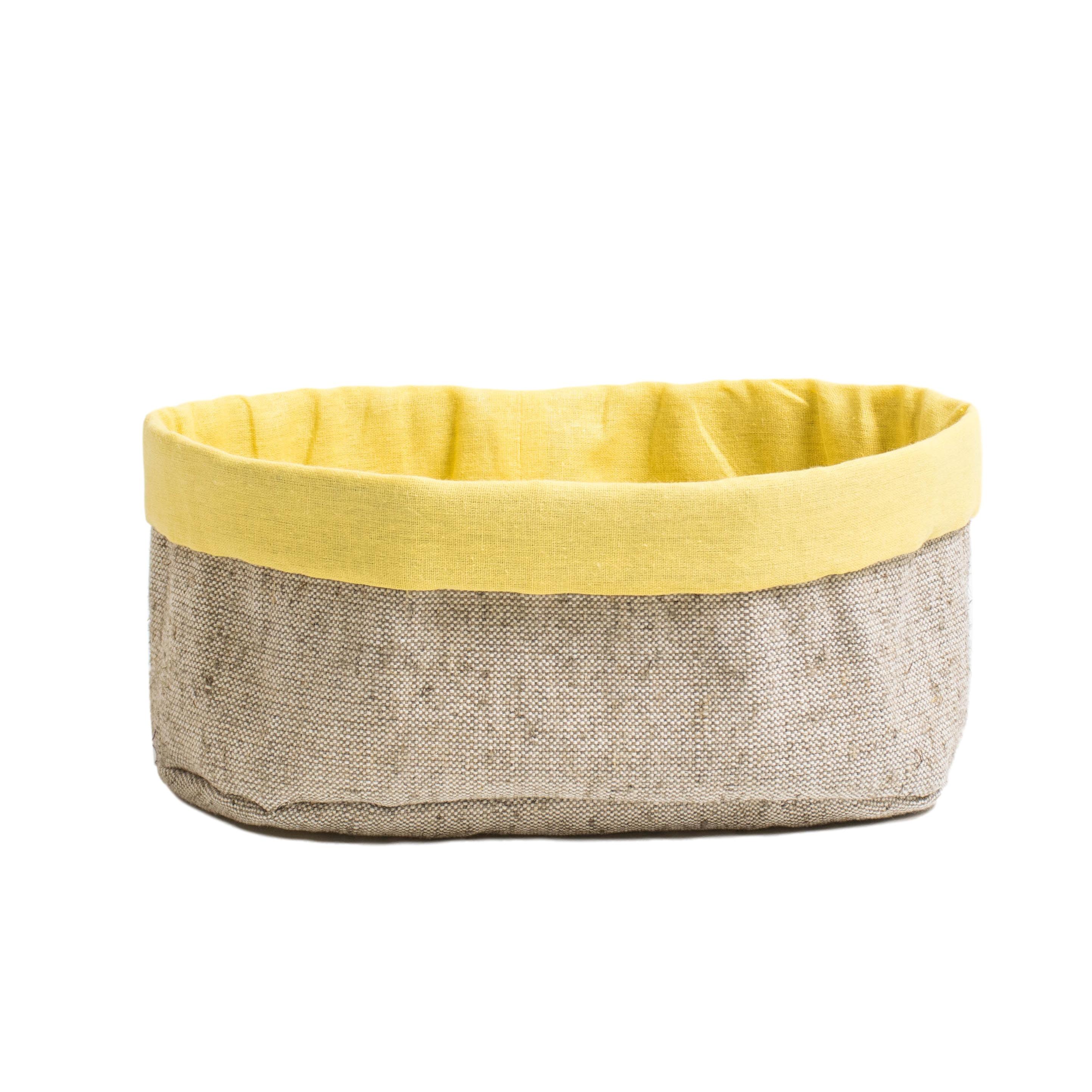 Хлебница ПровансАксессуары для кухни<br>Хлебница «Прованс» с жёлтой вставкой<br><br>Хлебница «Прованс» удобный аксессуар не только для подачи хлеба к столу, но и хранения.<br><br>Всем известно, что хлеб любит только натуральные материалы — хлопок и лён, поскольку они позволяют сохранить аромат и мягкость. Если во время трапезы не все нарезанные кусочки хлеба успели съесть, то спасти хлебобулочные изделия от зачерствения можно просто накрыв их льняным полотенцем прямо в хлебнице.&amp;amp;nbsp;<br><br>Material: Хлопок<br>Width см: 10<br>Depth см: 12<br>Height см: 30