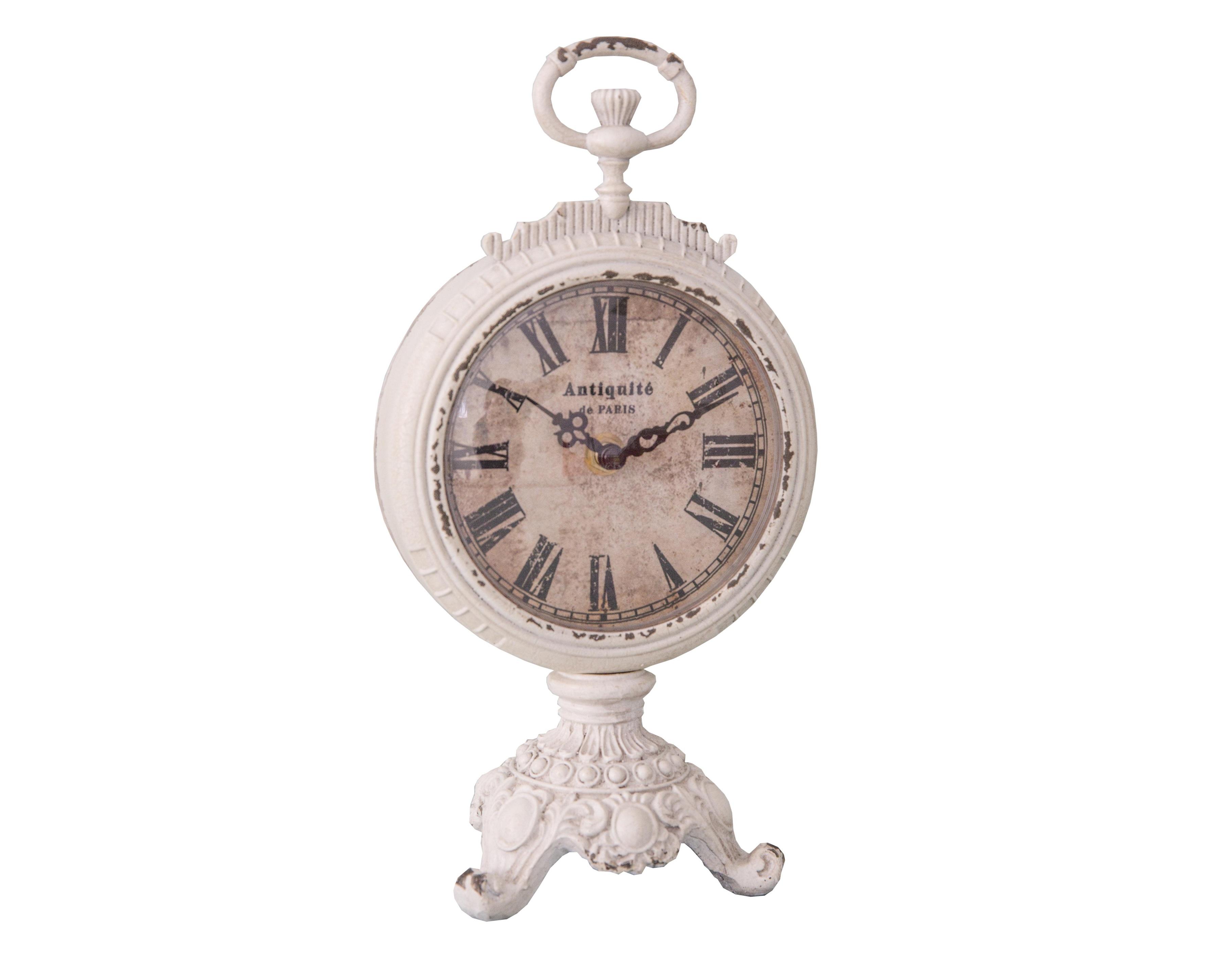 Настольные часы Antiquit?Настольные часы<br>Батарейки типа AА.<br><br>Material: Железо<br>Length см: None<br>Width см: 14,5<br>Depth см: 3,5<br>Height см: 26