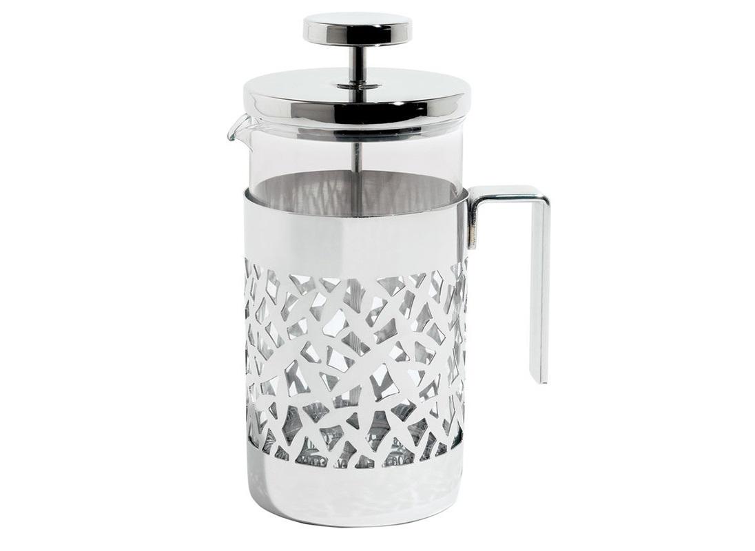 Френч-пресс CactusЧайники<br>Френч-пресс для заваривания кофе, чая и прочих напитков. Изготовлен из жаропрочного стекла и нержавеющей стали и декорирован эффектным ажурным узором, напоминающим вырезанные листья кактуса. Этот узор, выполненный с помощью лазерной обработки металла, является характерной чертой всей коллекции Cactus, придавая кухонным аксессуарам легкость, красоту и элегантность.&amp;amp;nbsp;&amp;lt;div&amp;gt;&amp;lt;br&amp;gt;&amp;lt;/div&amp;gt;&amp;lt;div&amp;gt;Объем — 720 мл.&amp;amp;nbsp;&amp;lt;/div&amp;gt;<br><br>Material: Сталь<br>Высота см: 9