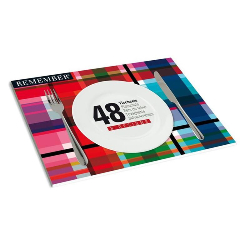 Набор сервировочных ковриков Mix (48шт)Аксессуары для кухни<br>Больше разнообразия на кухне!<br>Хотите постоянно менять оформление вашего стола? Эта коллекция позволит менять дизайны с лёгкостью. Набор сервировочных ковриков из бумаги сделан в виде книги, которая занимает 48 листов высококачественной бумаги, вмещающих 8 наборов ковриков с разными дизайнами. Яркость, стиль, а также разнообразие!&amp;amp;nbsp;&amp;lt;div&amp;gt;&amp;lt;br&amp;gt;&amp;lt;/div&amp;gt;&amp;lt;div&amp;gt;8 различных дизайнов, каждый набор состоит из 6 ковриков.&amp;lt;br&amp;gt;&amp;lt;/div&amp;gt;<br><br>Material: Бумага<br>Length см: 42<br>Width см: 30<br>Height см: 1