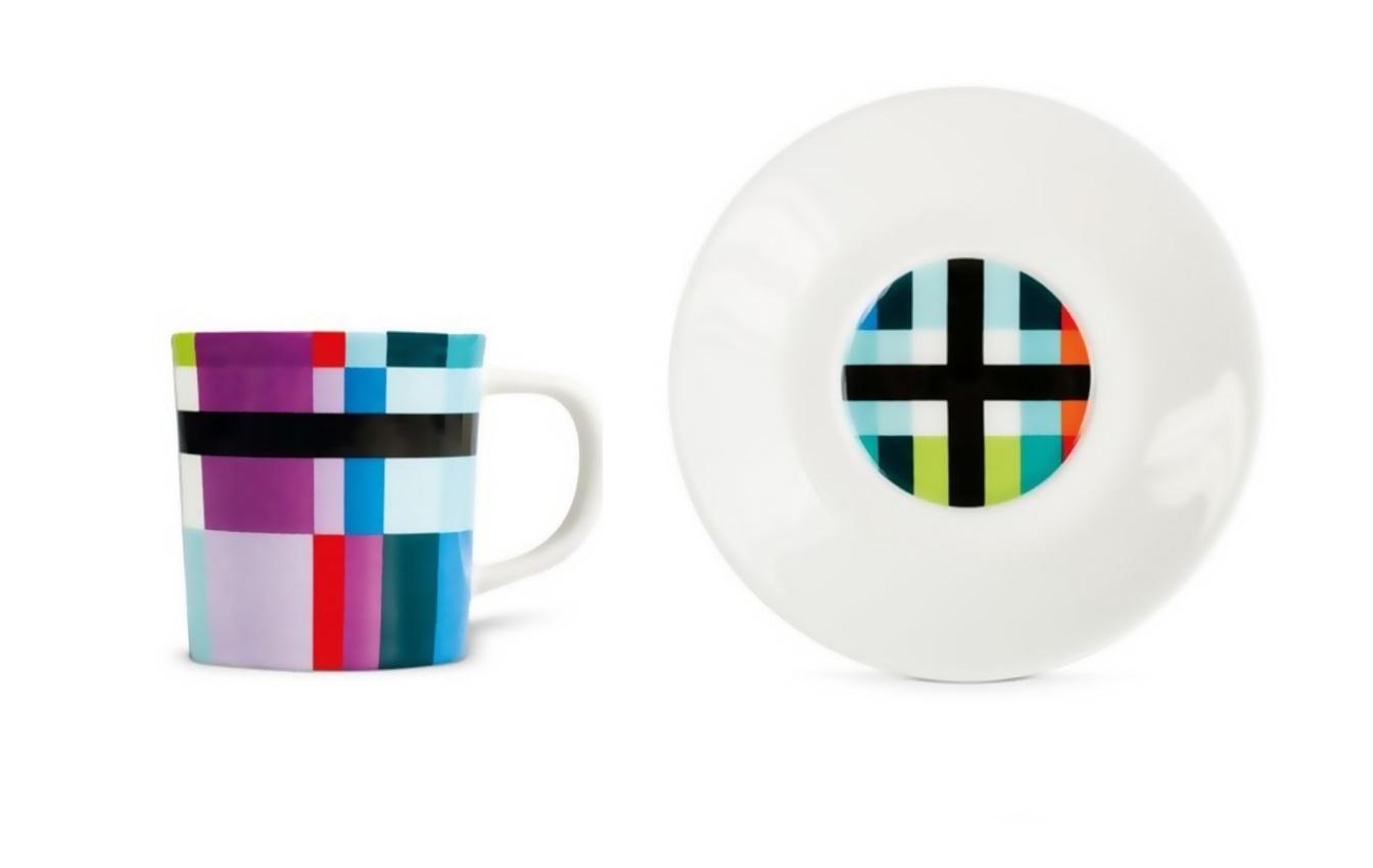 Чашка для эспрессо с блюдцем ZigzagЧайные пары, чашки и кружки<br>Набор из чашки для эспрессо с блюдцем в подарочной коробке. Элегантная форма и яркие цвета добавят хорошего настроения всем любителям кофе. Отличный подарок для себя или знакомых.&amp;amp;nbsp;&amp;lt;div&amp;gt;&amp;lt;br&amp;gt;&amp;lt;/div&amp;gt;&amp;lt;div&amp;gt;Объём 75 мл.&amp;lt;/div&amp;gt;<br><br>Material: Фарфор<br>Height см: 9,2<br>Diameter см: 12,2