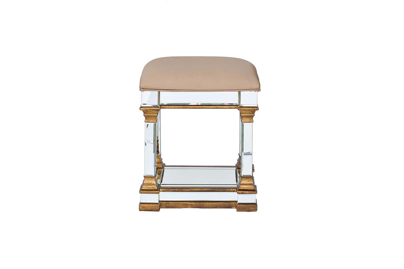 Банкетка с зеркальными вставкамиФорменные пуфы<br><br><br>Material: Текстиль<br>Ширина см: 42<br>Высота см: 50<br>Глубина см: 33