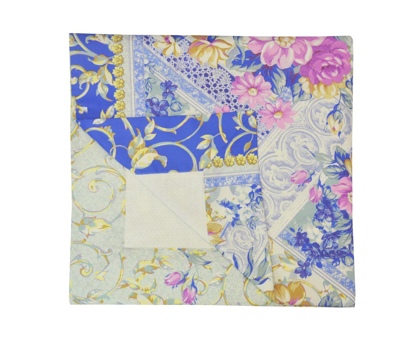 Плед-простынь Цветущий садХлопковые пледы<br>Простыня -плед из сатина с одной стороны и вафельной ткани с другой могут использоваться как легкое одеяло. Очень полезная вещь для тех,кто не любит одевать пододеяльники.<br><br>Material: Хлопок<br>Length см: 200<br>Width см: 200