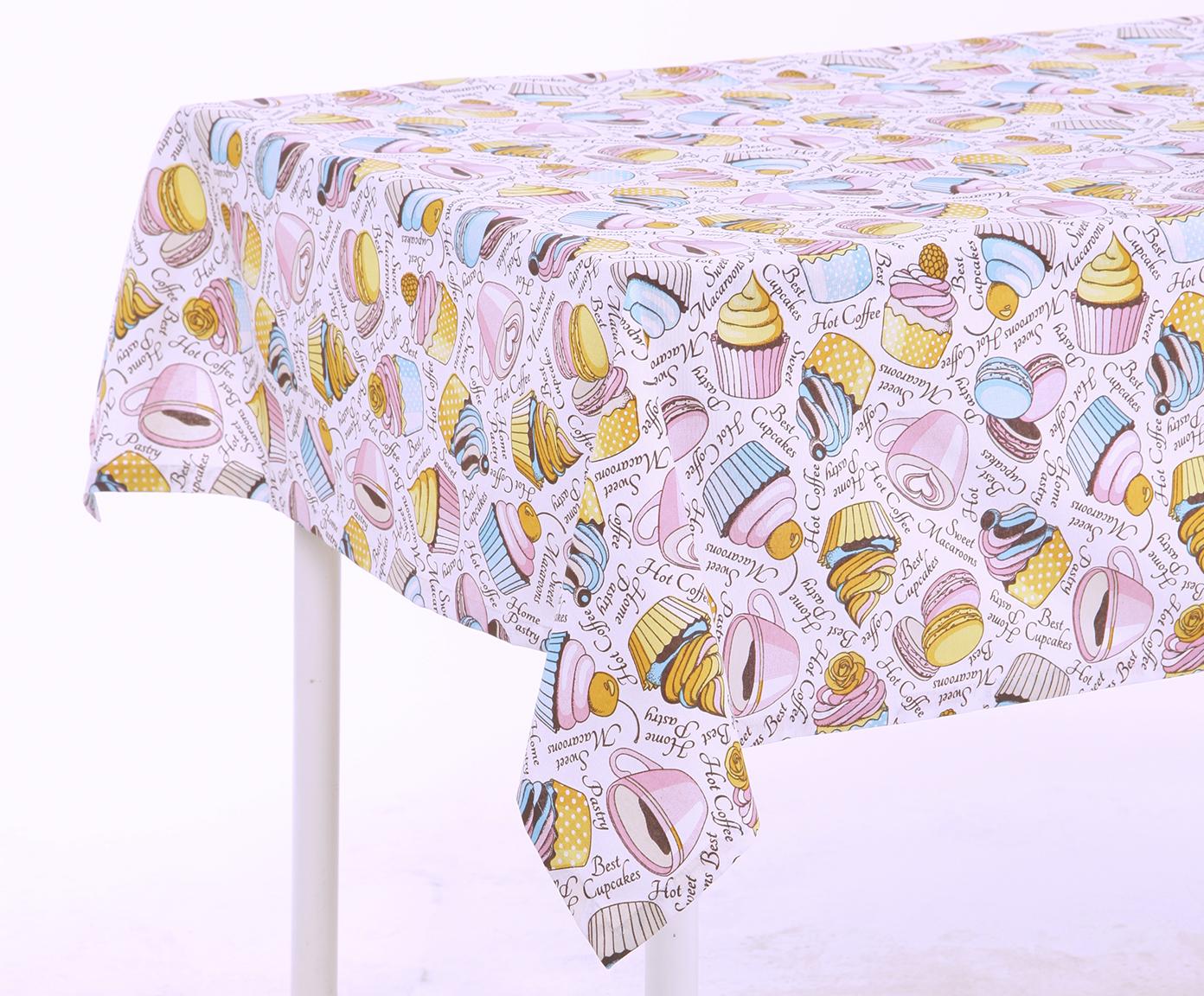 Скатерть Pink cakeСкатерти<br>Скатерть на стол. Подойдет для создания хорошего настроения. Яркий дизайн. Ткань прочная ,износоустойчивая.<br><br>Material: Хлопок<br>Ширина см: 180.0<br>Глубина см: 130.0