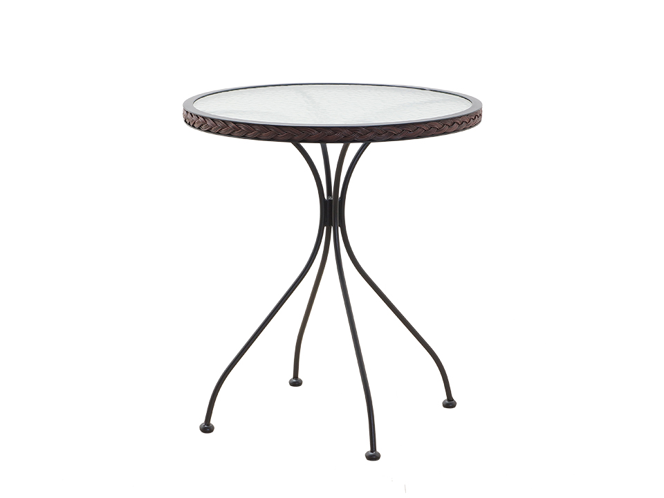 Стол TenerifeСтолы и столики для сада<br>Стол для сада со стеклянной столешницей<br><br>Material: Ротанг<br>Height см: 72<br>Diameter см: 60