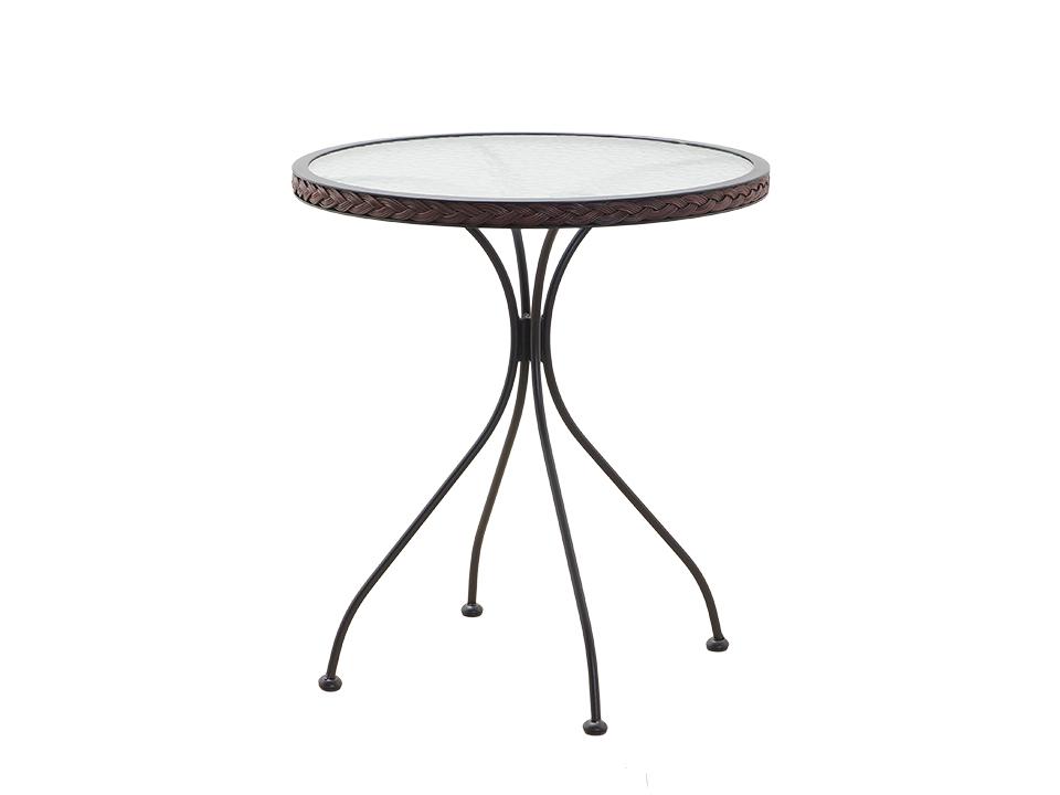 Стол TenerifeСтолы для улицы<br>Стол для сада со стеклянной столешницей<br><br>Material: Ротанг<br>Height см: 72<br>Diameter см: 60