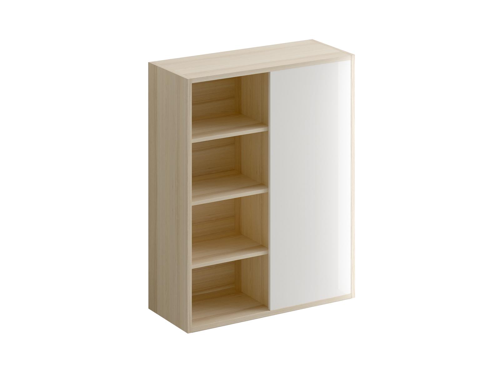 Шкаф Mix PlusБельевые шкафы<br>Шкаф для книг и документов. У шкафа двa отделения: открытые полки слева и съёмные полки за дверью справа.<br><br>Material: ДСП<br>Width см: 88<br>Depth см: 36<br>Height см: 111