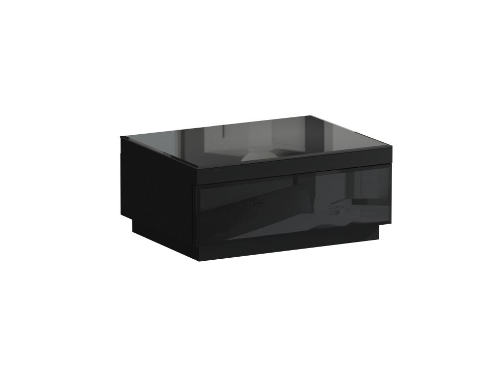 Тумба KristalПрикроватные тумбы<br>Тумба прикроватная с выдвижным ящиком. Фасад ящика и верхний щит декорированы стеклом. Ящик открывается по принципу «нажал — открыл».<br><br>Material: ДСП<br>Ширина см: 59<br>Высота см: 28<br>Глубина см: 46