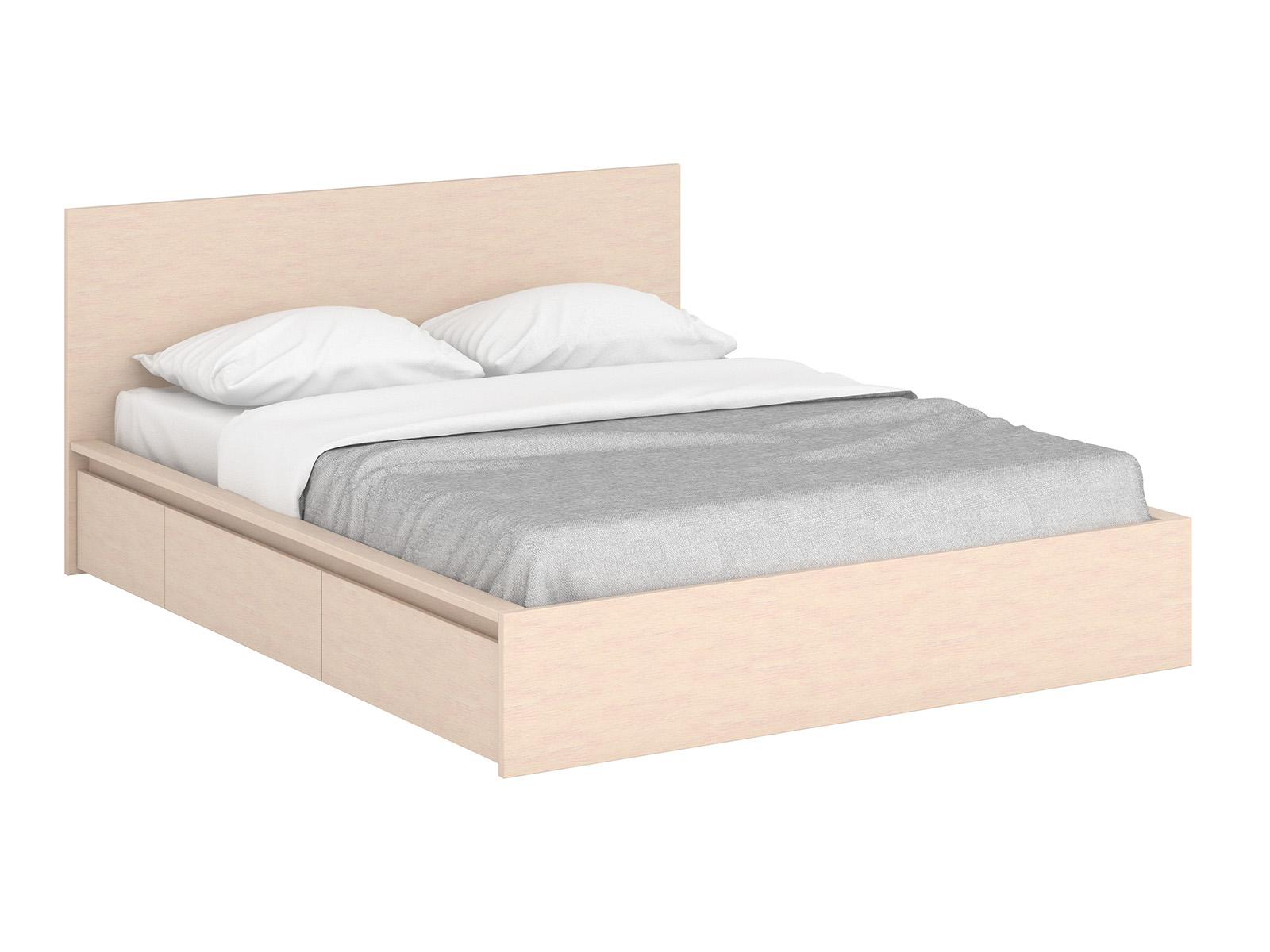Кровать UnitДеревянные кровати<br>Кровать двуспальная с 4 выкатными ящиками для белья и двумя выдвижными тумбами у изголовья. Основание кровати  - щитовое, с отверстиями для вентиляции.&amp;amp;nbsp;&amp;lt;div&amp;gt;&amp;lt;br&amp;gt;&amp;lt;/div&amp;gt;&amp;lt;div&amp;gt;Размер спального места 160х200 cм&amp;lt;/div&amp;gt;&amp;lt;div&amp;gt;Изделие представлено в варианте цвета «Выбеленный дуб»&amp;lt;/div&amp;gt;<br><br>Material: ДСП<br>Length см: 206<br>Width см: 155<br>Height см: 87