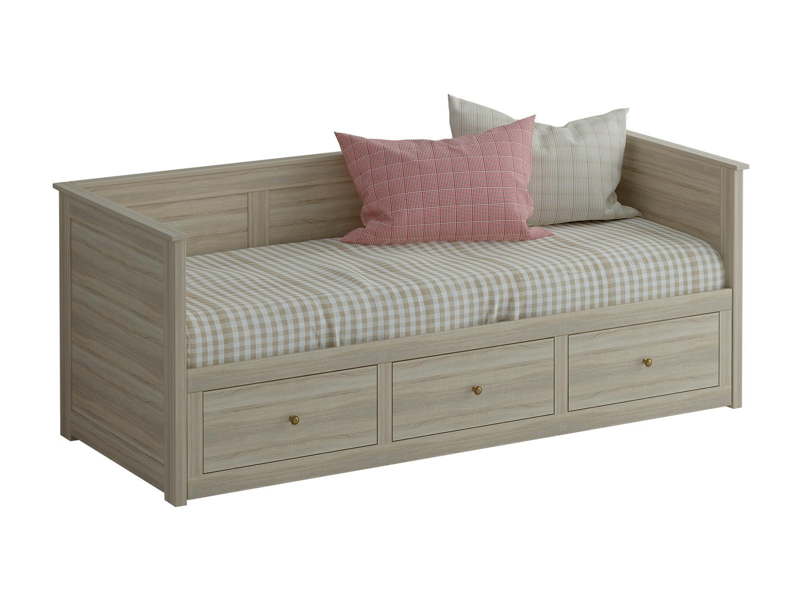 Кровать-кушетка ReinaДеревянные кровати<br>&amp;lt;div&amp;gt;В задвинутом виде кушетка используется как односпальная кровать, в раздвинутом - как двухспальная. Выдвижная часть оснащенна тремя ящиками для хранения вещей. При использовании кровати-кушетки Reina в качестве раскладной двухспальной кровати рекомендуется применять специальный складной матрас.&amp;lt;/div&amp;gt;&amp;lt;div&amp;gt;&amp;lt;br&amp;gt;&amp;lt;/div&amp;gt;&amp;lt;div&amp;gt;Размер спального места - в сложенном виде 200х80 см, в разложенном 200х159 см.&amp;lt;/div&amp;gt;<br><br>Material: ДСП<br>Ширина см: 211<br>Высота см: 83<br>Глубина см: 89