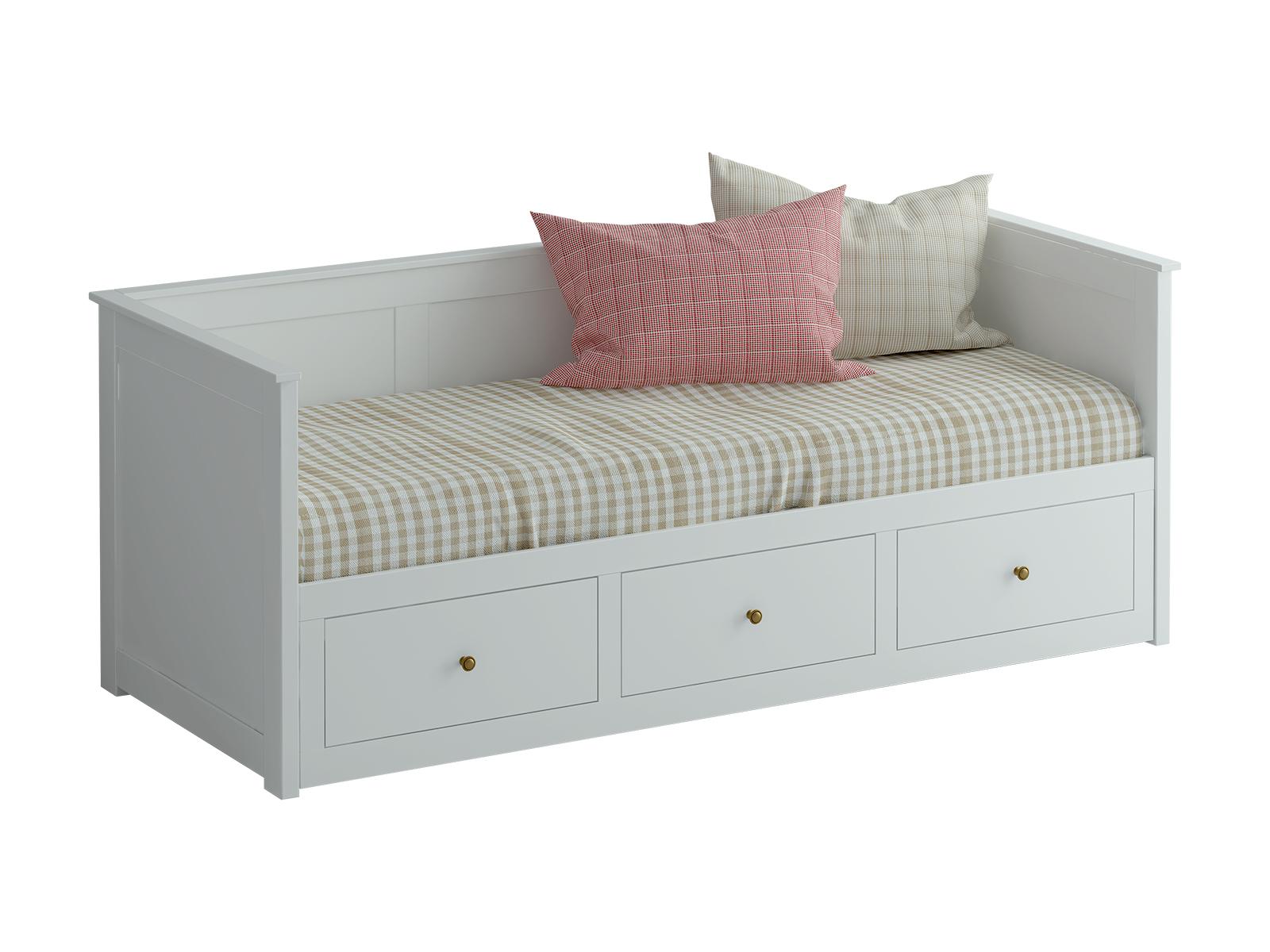 Кровать-кушетка ReinaДеревянные кровати<br>В задвинутом виде кушетка используется как односпальная кровать, в раздвинутом - как двухспальная. Выдвижная часть оснащенна тремя ящиками для хранения вещей. При использовании кровати-кушетки Reina в качестве раскладной двухспальной кровати рекомендуется применять специальный складной матрас.&amp;lt;div&amp;gt;&amp;lt;br&amp;gt;&amp;lt;/div&amp;gt;&amp;lt;div&amp;gt;Высота спального места 388 мм&amp;lt;/div&amp;gt;&amp;lt;div&amp;gt;Габариты в разложенном виде: 165х83х211 см&amp;lt;/div&amp;gt;&amp;lt;div&amp;gt;Материал: ЛДСП&amp;lt;br&amp;gt;&amp;lt;/div&amp;gt;<br><br>Material: Текстиль<br>Length см: 211<br>Width см: 89<br>Height см: 83