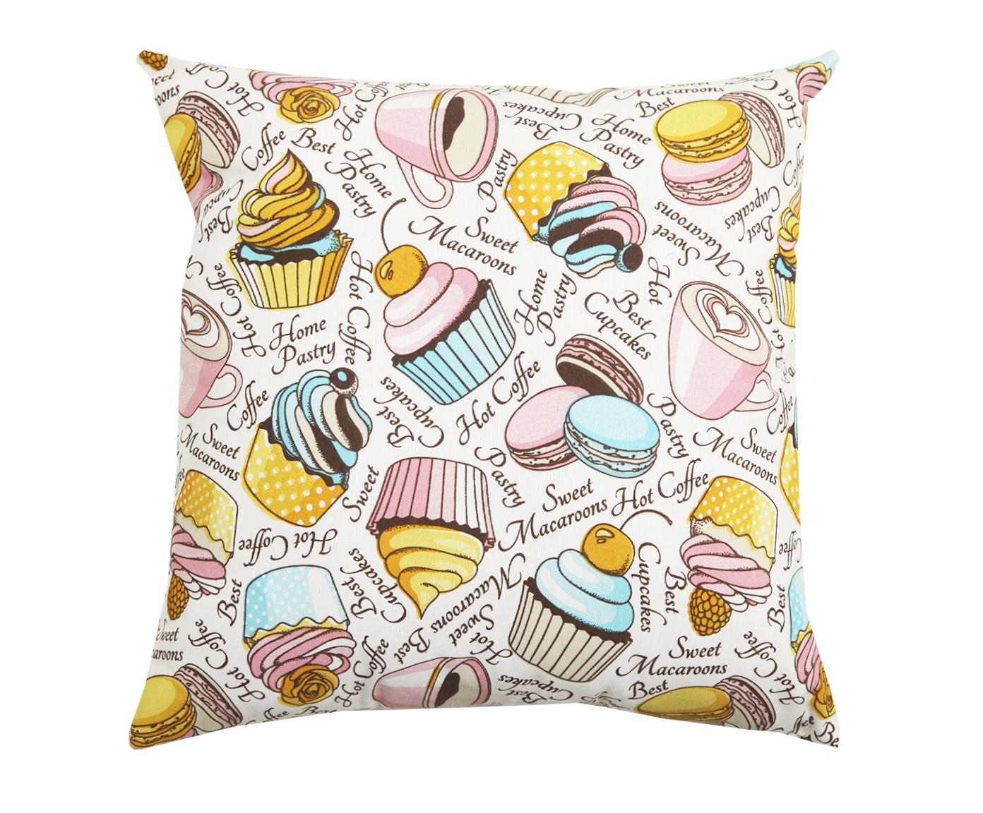 Подушка Pink cakeКвадратные подушки и наволочки<br>Декоративная  подушка .Чехол съемный.<br><br>Material: Хлопок<br>Ширина см: 45<br>Высота см: 45<br>Глубина см: 15