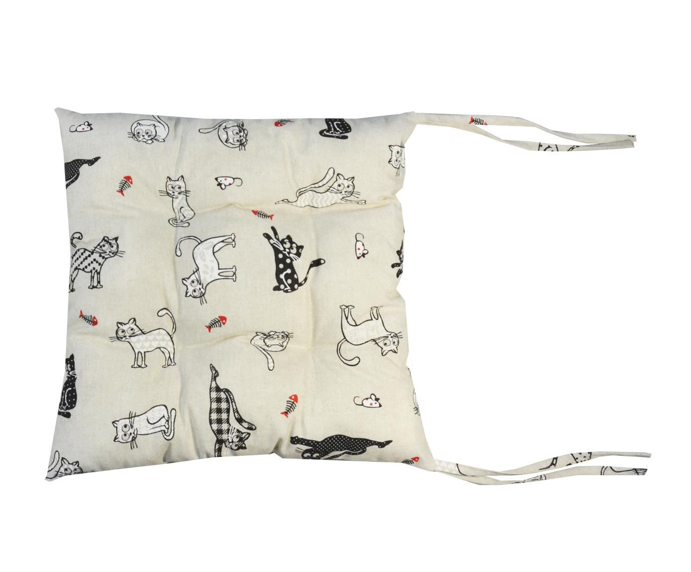 Подушка для стула CatsКвадратные подушки и наволочки<br>Декоративная  подушка .Чехол съемный.<br><br>Material: Хлопок<br>Ширина см: 43<br>Высота см: 43<br>Глубина см: 15