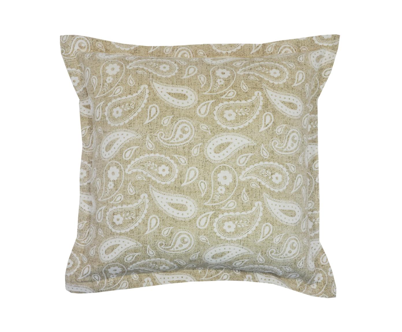 Подушка Paisley LinoКвадратные подушки<br>Декоративная  подушка .Чехол съемный.<br><br>Material: Хлопок<br>Length см: None<br>Width см: 45<br>Depth см: 15<br>Height см: 45