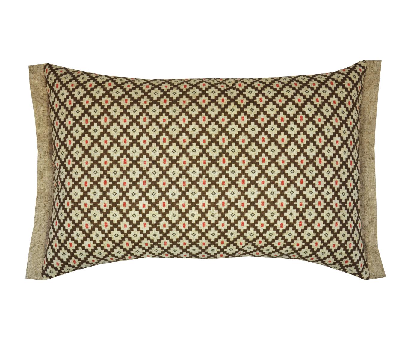 Подушка Calella brownПрямоугольные подушки и наволочки<br>Декоративная  подушка .Чехол съемный.<br><br>Material: Хлопок<br>Length см: None<br>Width см: 60<br>Depth см: 15<br>Height см: 40