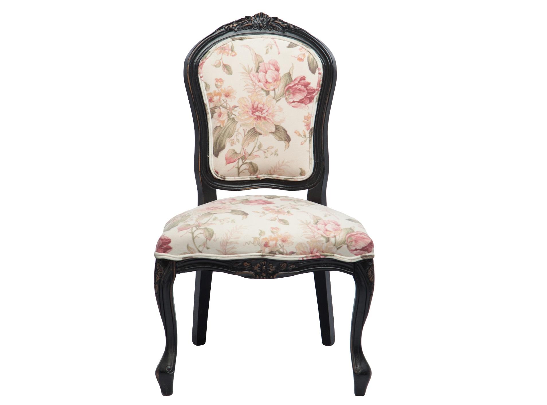 СтулОбеденные стулья<br>Стул из дерева с мягкой спинкой, обивка с цветочным рисунком.<br><br>Material: Дерево<br>Width см: 62<br>Depth см: 64<br>Height см: 104