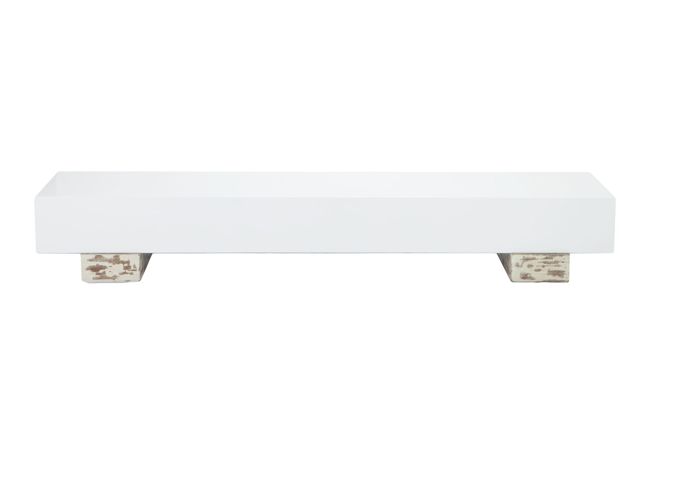 Столик низкий (TV-консоль)Кофейные столики<br>Узкий прямоугольный столик на ножках из дерева, окрашенного в белый цвет со старением. Глянцево-белая столешница. Столик можно использовать в качестве кофейного или как консоль под TV.<br><br>Material: МДФ<br>Length см: None<br>Width см: 200<br>Depth см: 50<br>Height см: 31