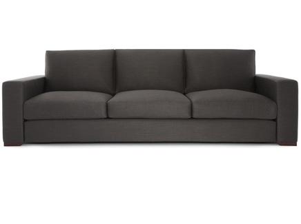 Диван broadway (myfurnish) серый 220x85x95 см.