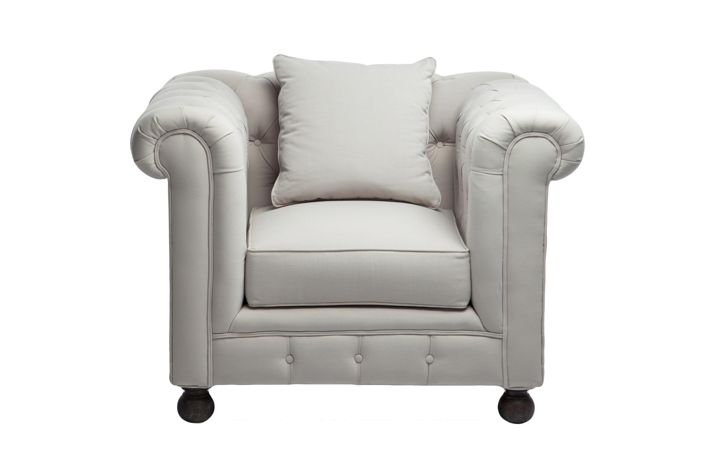 Кресло «Честерфилд»Интерьерные кресла<br>Классическая модель, декорированная стёжкой капитоне, серо-голубая обивка, круглые ножки цвета венге.<br><br>Material: Текстиль<br>Width см: 110<br>Depth см: 93<br>Height см: 89