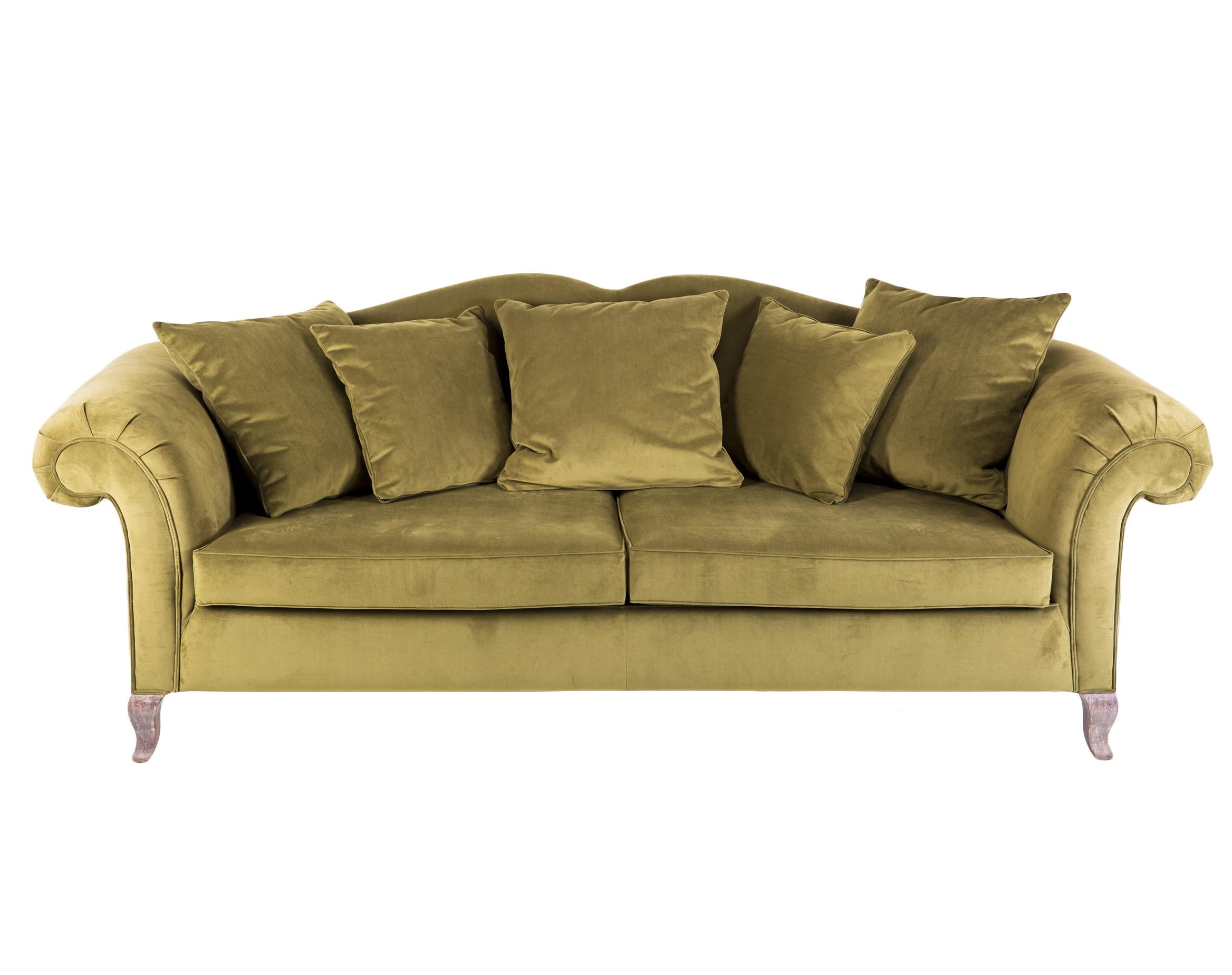 Диван КампариТрехместные диваны<br>Диван с двухцветной обивкой на ножках из дерева махагони. Подушки в комплекте.<br><br>Material: Текстиль<br>Width см: 260<br>Depth см: 103<br>Height см: 95
