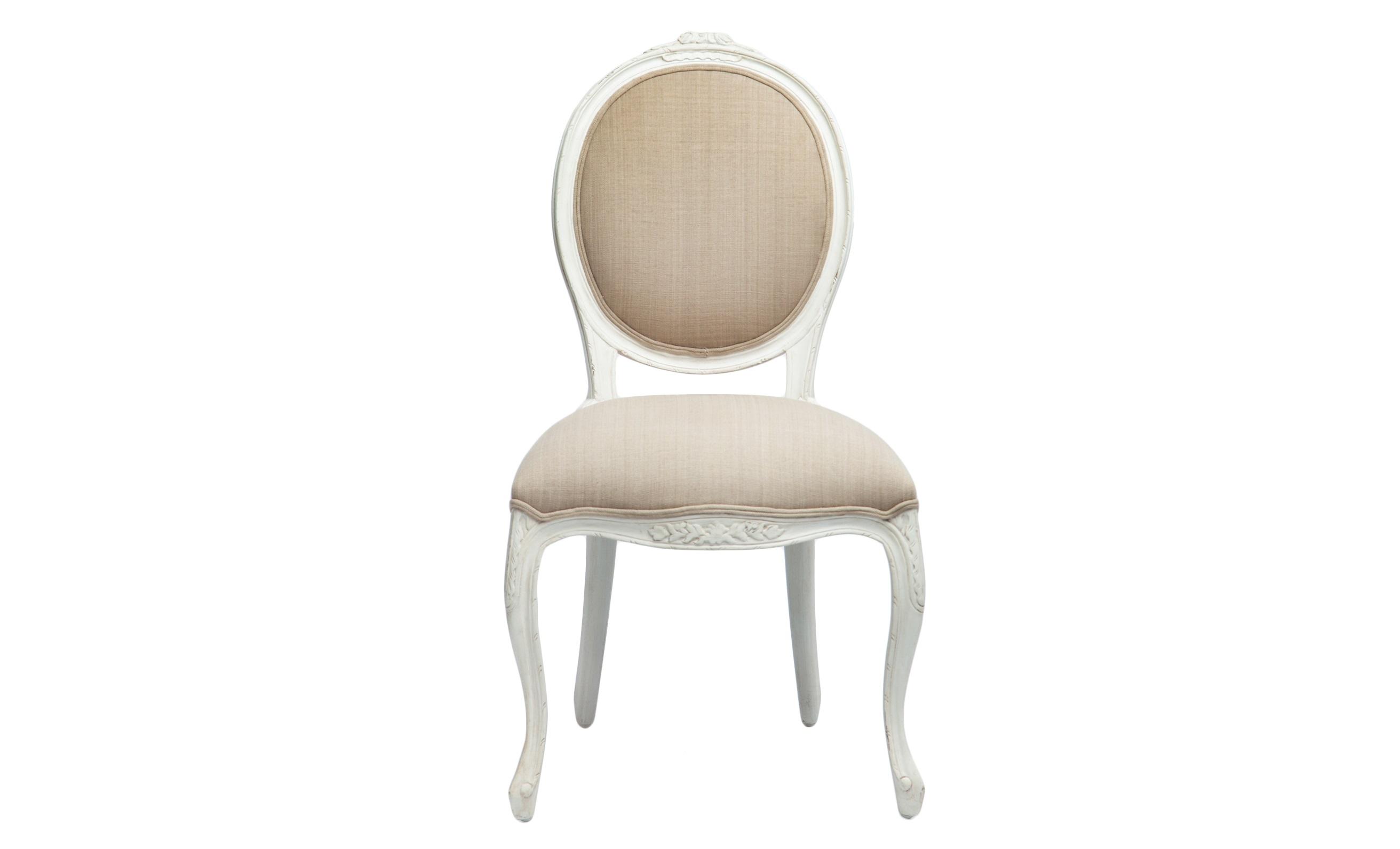 Стул СелинОбеденные стулья<br>Стул с круглой спинкой в стиле прованс, декорирован резьбой ручной работы и искусственным старением.&amp;amp;nbsp;&amp;lt;div&amp;gt;&amp;lt;br&amp;gt;&amp;lt;/div&amp;gt;&amp;lt;div&amp;gt;Обивка: 40% лён, 60% вискоза.&amp;lt;/div&amp;gt;<br><br>Material: Текстиль<br>Width см: 61<br>Depth см: 53<br>Height см: 96
