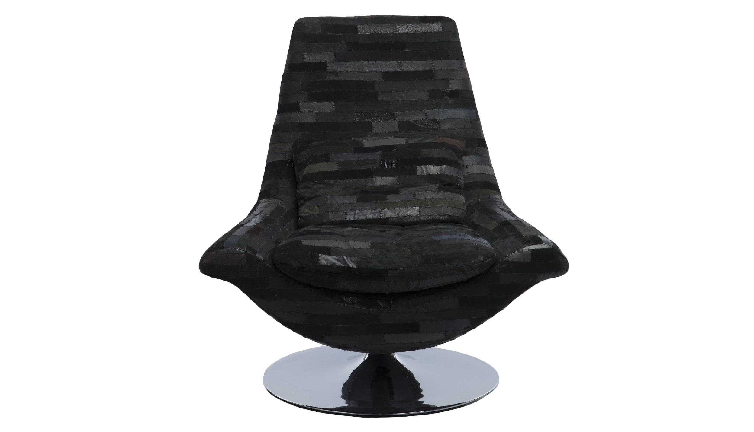 КреслоИнтерьерные кресла<br>Кресло вращающееся на стальной ножке, обивка в стиле пэчворк из экокожи.<br><br>Material: Кожа<br>Width см: 81<br>Depth см: 60<br>Height см: 94