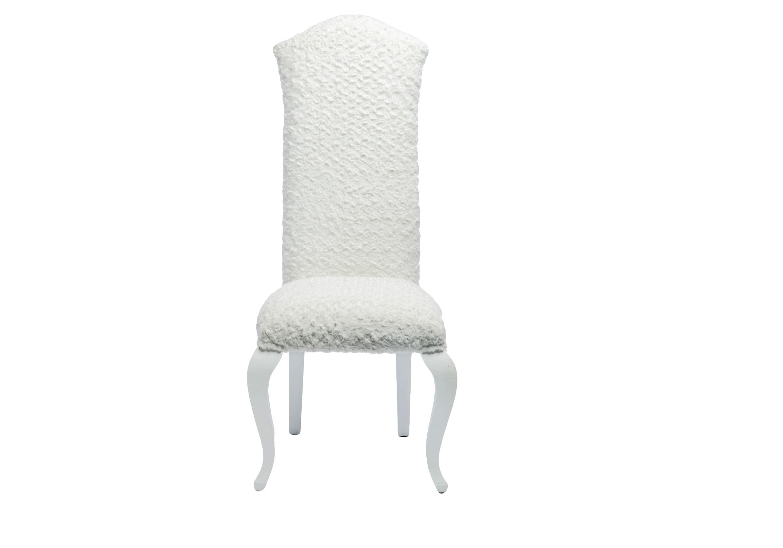 СтулОбеденные стулья<br>Стул декоративный с обивкой из искусственного меха и высокой спинкой.<br><br>Material: Дерево<br>Width см: 53<br>Depth см: 64<br>Height см: 118