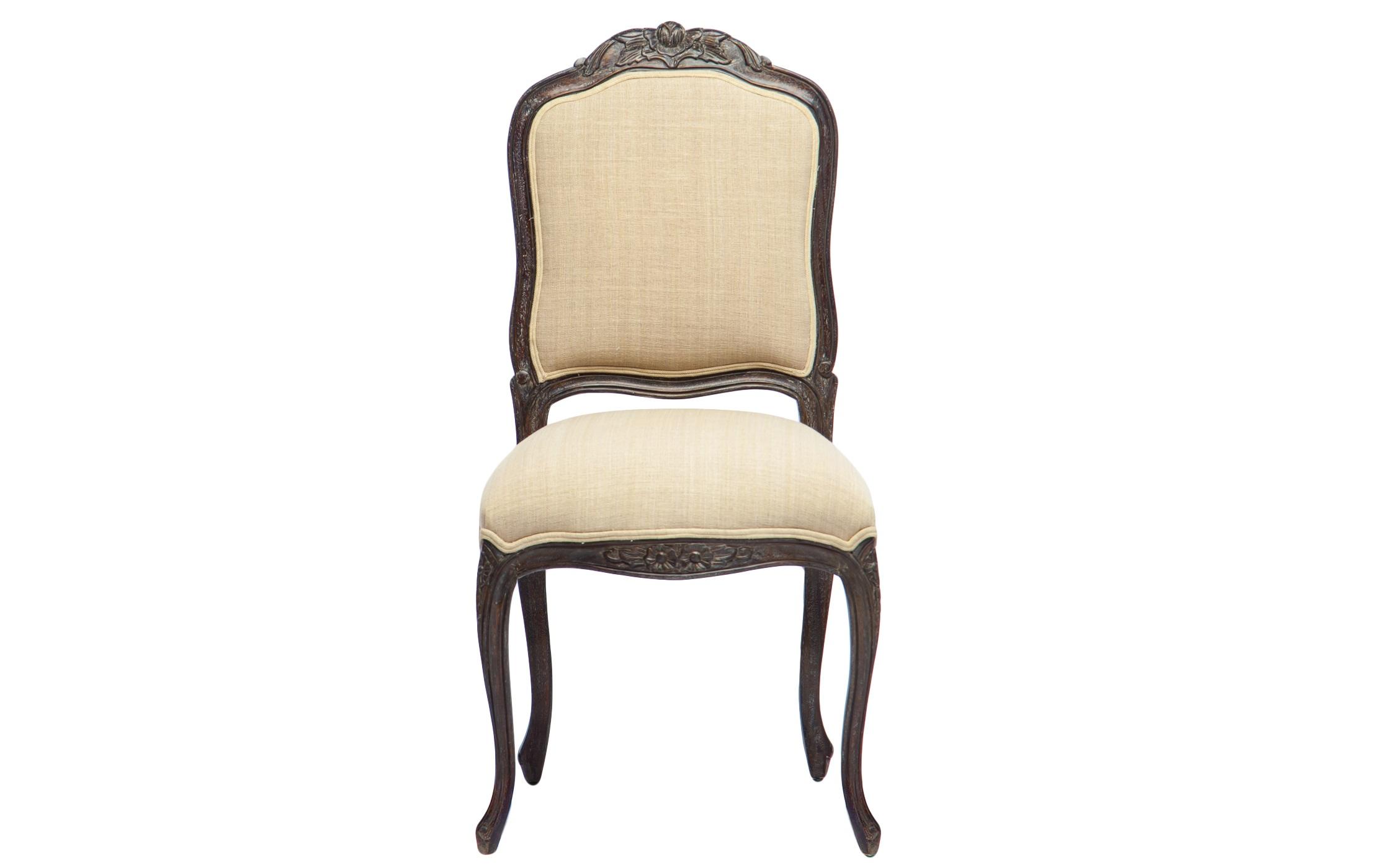Стул АгатаОбеденные стулья<br>Стул из дерева махагони с мягкой спинкой, украшен резьбой. Обивка: 100% хлопок.<br><br>Material: Красное дерево<br>Width см: 56<br>Depth см: 50<br>Height см: 102