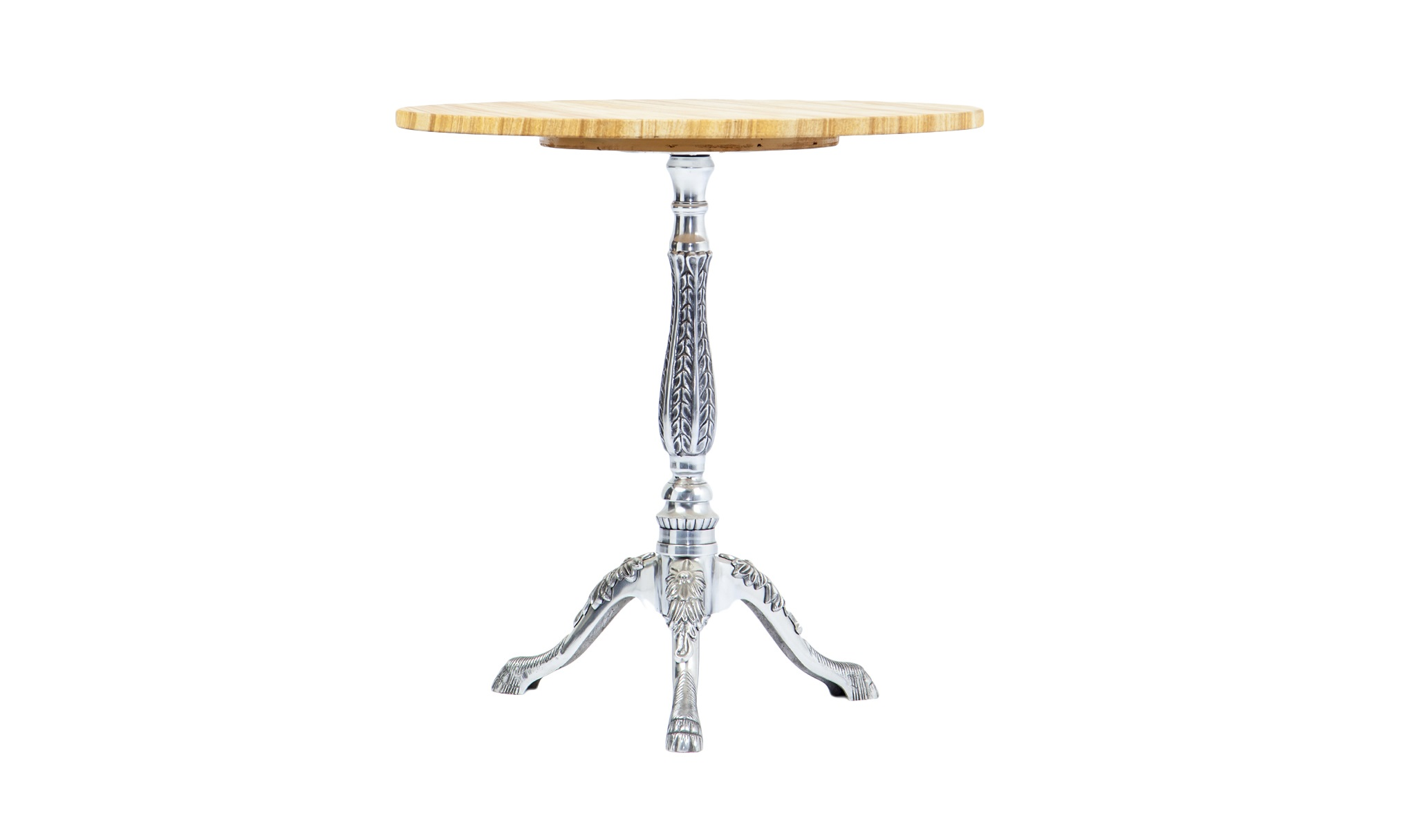Ламповый столикКофейные столики<br>Круглый ламповый столик на металлической ножке со столешницей из камня (текстура камня под дерево).<br><br>Material: Металл<br>Высота см: 62