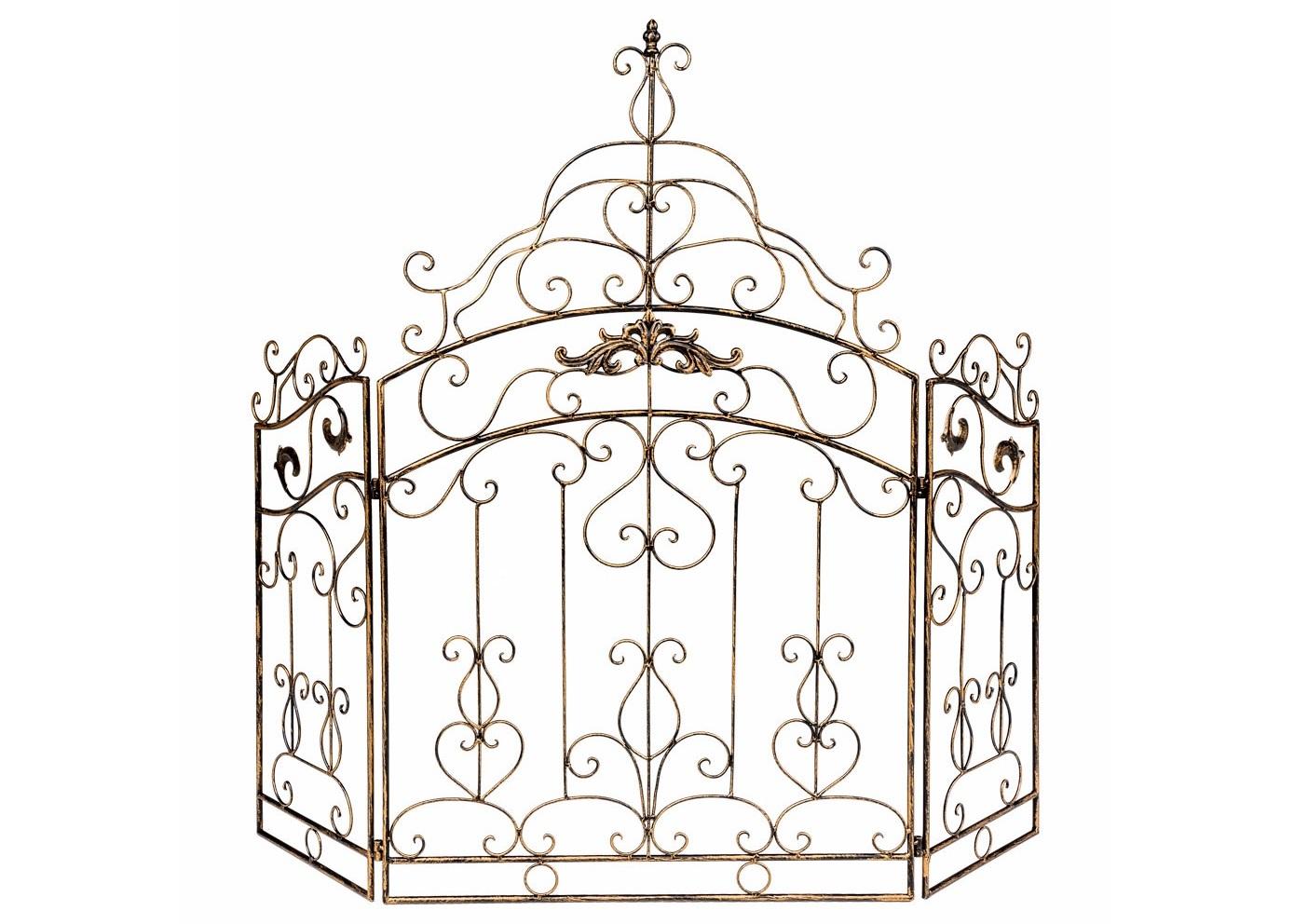 Каминный экран «Клермон»Другое<br>Каминный экран &amp;quot;Клермон&amp;quot;, декорированный роскошным узором королевских ворот, задаст Вашим апартаментам репутацию респектабельности и благополучия, не лишенных романтики и комфорта. Королевский узор экрана, свойственный классицизму, чрезвычайно эффектен в престижных интерьерах авангардного &amp;quot;лофта&amp;quot;. Особый комплимент - поклонникам салонного &amp;quot;ар-деко&amp;quot;. Складные экраны практичнее плоских. Трехстворчатая конструкция позволяет моделировать форму, регулируя длину и глубину экрана согласно планировке.<br><br>Material: Металл<br>Width см: 117<br>Height см: 101