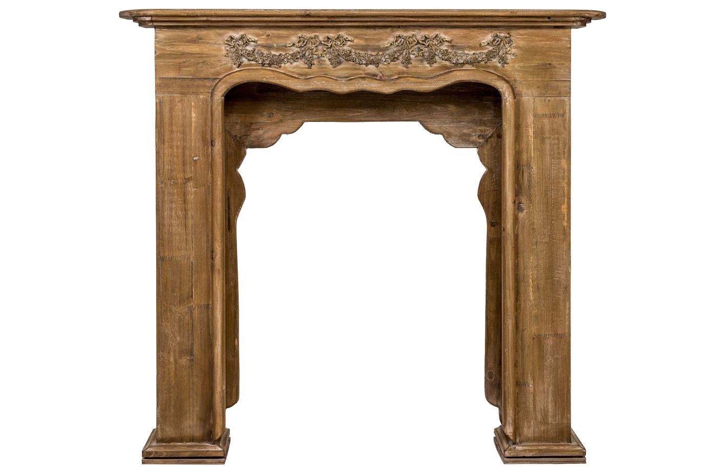 Каминный портал ЖарденДругое<br>Каминный портал &amp;quot;Жарден&amp;quot;, выполненный в манере дворцового классицизма и обладающий величественными  формами, - образец интерьерного лидера, задающего эталон благородства любому интерьеру. В дизайне  решающую роль играет узор: фронтон украшен лаврово-цветочной гирляндой, придающей рельефу особую значимость.  Поверхность портала покрыта прозрачным лаком, сохраняющим структуру натурального дерева. Старинный дизайн подчеркнут искусной техникой состаривания. Большинство деталей портала созданы вручную.&amp;lt;div&amp;gt;&amp;lt;br&amp;gt;&amp;lt;/div&amp;gt;&amp;lt;div&amp;gt;&amp;lt;br&amp;gt;&amp;lt;/div&amp;gt;&amp;lt;iframe width=&amp;quot;530&amp;quot; height=&amp;quot;315&amp;quot; src=&amp;quot;https://www.youtube.com/embed/MDYV1hT42Qs&amp;quot; frameborder=&amp;quot;0&amp;quot; allowfullscreen=&amp;quot;&amp;quot;&amp;gt;&amp;lt;/iframe&amp;gt;<br><br>Material: Дерево<br>Ширина см: 100<br>Высота см: 109<br>Глубина см: 18