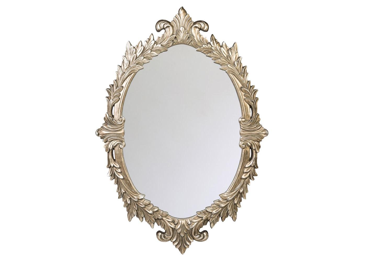 Настенное зеркало АфродитаНастенные зеркала<br>Художественным прототипом зеркала «Афродита»  являются старинные овальные картинные рамы.  Дворцовая стилистика этого зеркала свойственна классическим жанрам &amp;quot;ренессанс&amp;quot;, &amp;quot;ампир&amp;quot;, &amp;quot;рококо&amp;quot;, &amp;quot;барокко&amp;quot;, &amp;quot;ар-деко&amp;quot;. Пред лицом такого зеркала любая модная примерка разыграется в торжество версальского бала!  Зеркало имеет толщину 4 мм, покрыто  серебряной амальгамой. Рама изготовлена из полиуретана, который   имитирует любые материалы. На первый взгляд оправа зеркала  не отличается от металлической.<br><br>Material: Полиуретан<br>Width см: 129<br>Depth см: 3.5<br>Height см: 88