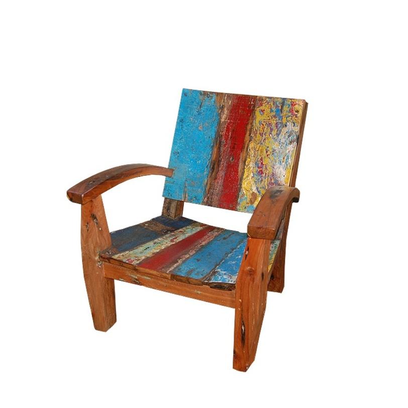 Кресло MaxПолукресла<br>Смелое и творческое кресло из массива тика с окрасом, напоминающим холст художника-модерниста. Отличный вариант для создания акцента в интерьере.<br><br>Material: Тик<br>Width см: 85<br>Depth см: 80<br>Height см: 85