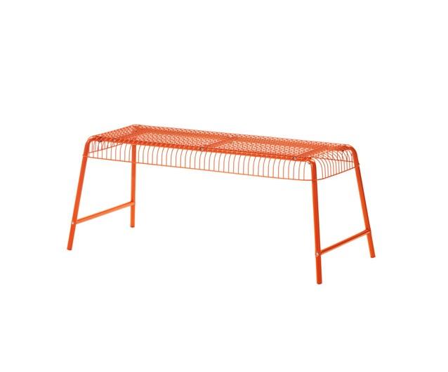 скамья для дома и сада вэстерон Ikea оранжевый сталь