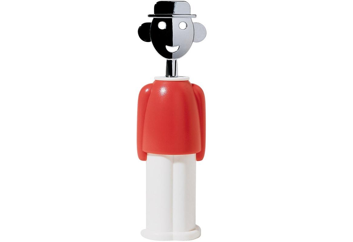 Штопор Alessandro mАксессуары для кухни<br>Механический штопор для винных бутылок в форме персонажа по имени Allesandro M, в котором Алессандро Мендини воплотил самого себя. Он создал его вслед за культовой фигуркой Anna G, прототипом для которой выступила подруга дизайнера. Вместе эта пара стала одной из самых узнаваемых в мире современного дизайна.&amp;lt;div&amp;gt;&amp;lt;br&amp;gt;&amp;lt;/div&amp;gt;&amp;lt;div&amp;gt;&amp;lt;div&amp;gt;Материал: термопластик + цинковый сплав.&amp;lt;/div&amp;gt;&amp;lt;div&amp;gt;Дизайн: Alessandro Mendini.&amp;lt;/div&amp;gt;&amp;lt;/div&amp;gt;<br><br>Material: Пластик<br>Width см: 6<br>Depth см: 6<br>Height см: 21