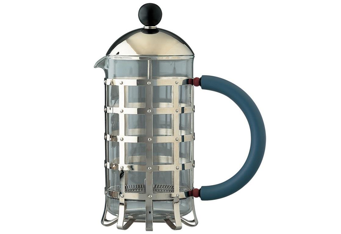 Френч-прессЧайники<br>Френч-пресс для заваривания кофе, чая и прочих напитков. Дизайнер Майкл Грейвс придал классической форме изящные «птичьи» очертания. Френч-пресс изготовлен из жаропрочного стекла и нержавеющей стали. Термоустойчивое покрытие на ручке и крышке предназначено для защиты пальцев от высоких температур.<br>Объем рассчитан на приготовление 3 чашек кофе.&amp;lt;div&amp;gt;&amp;lt;br&amp;gt;&amp;lt;/div&amp;gt;&amp;lt;div&amp;gt;Материал: стекло + нержавеющая сталь.&amp;lt;/div&amp;gt;&amp;lt;div&amp;gt;Объем: 240 мл.&amp;lt;/div&amp;gt;&amp;lt;div&amp;gt;Дизайн: Michael Graves.&amp;lt;/div&amp;gt;<br><br>Material: Металл<br>Height см: 24<br>Diameter см: 10