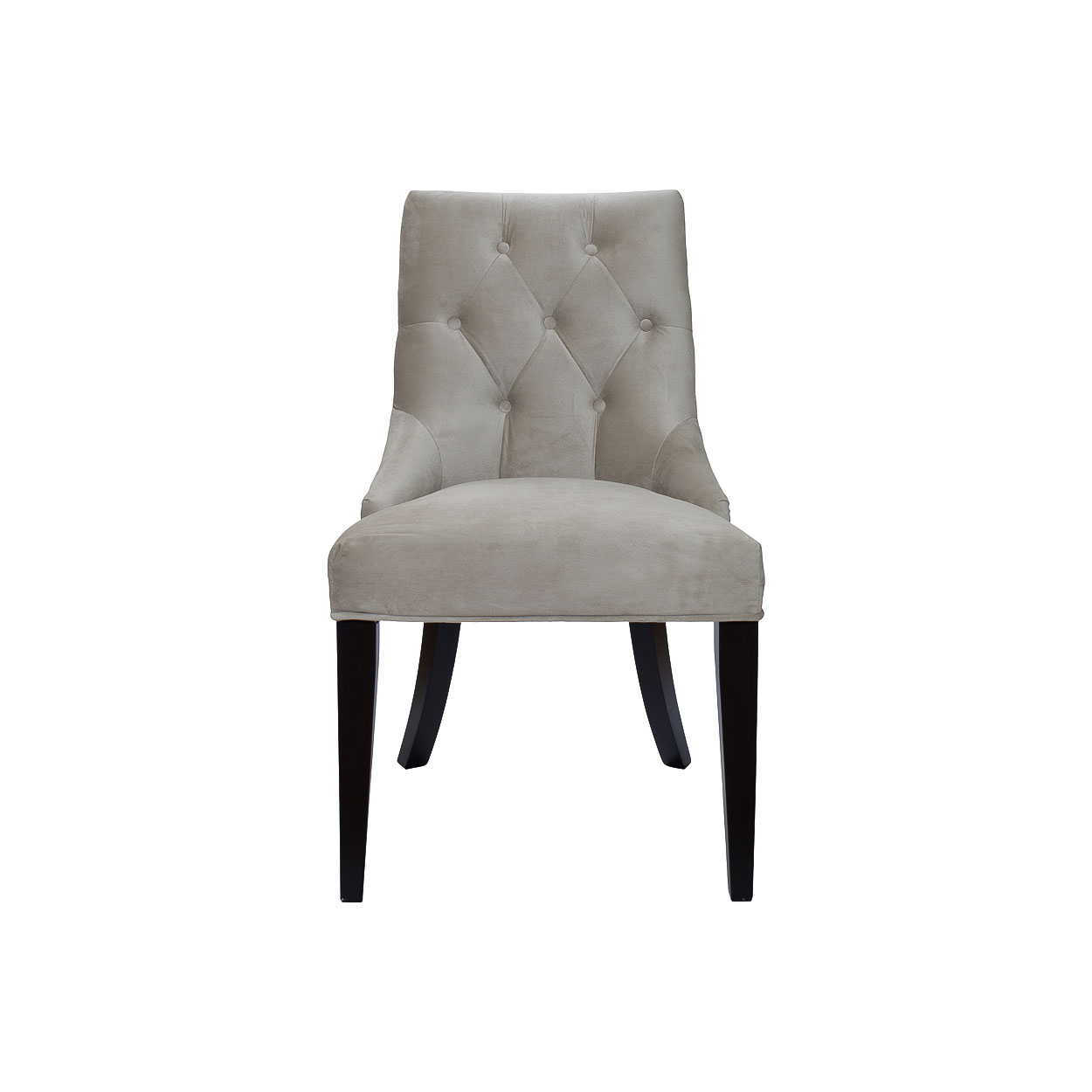 ПолкуреслоПолукресла<br>Стиль ар деко, идеально подходящий для создания шикарных интерьеров, воплощен в дизайне этого стула. Присущая ему контрастность выражена в сочетании противоположных цветов. Изящество обнаруживается благодаря элегантному силуэту, изюминкой которого выступает расширяющаяся книзу спинка. Обивка из мягкого велюра добавляет дороговизны оформлению, делая его по-настоящему роскошным.&amp;lt;div&amp;gt;&amp;lt;br&amp;gt;&amp;lt;/div&amp;gt;&amp;lt;div&amp;gt;Материалы: бежевый велюр, деревянные ножки.&amp;lt;/div&amp;gt;<br><br>Material: Велюр<br>Ширина см: 52<br>Высота см: 89<br>Глубина см: 48