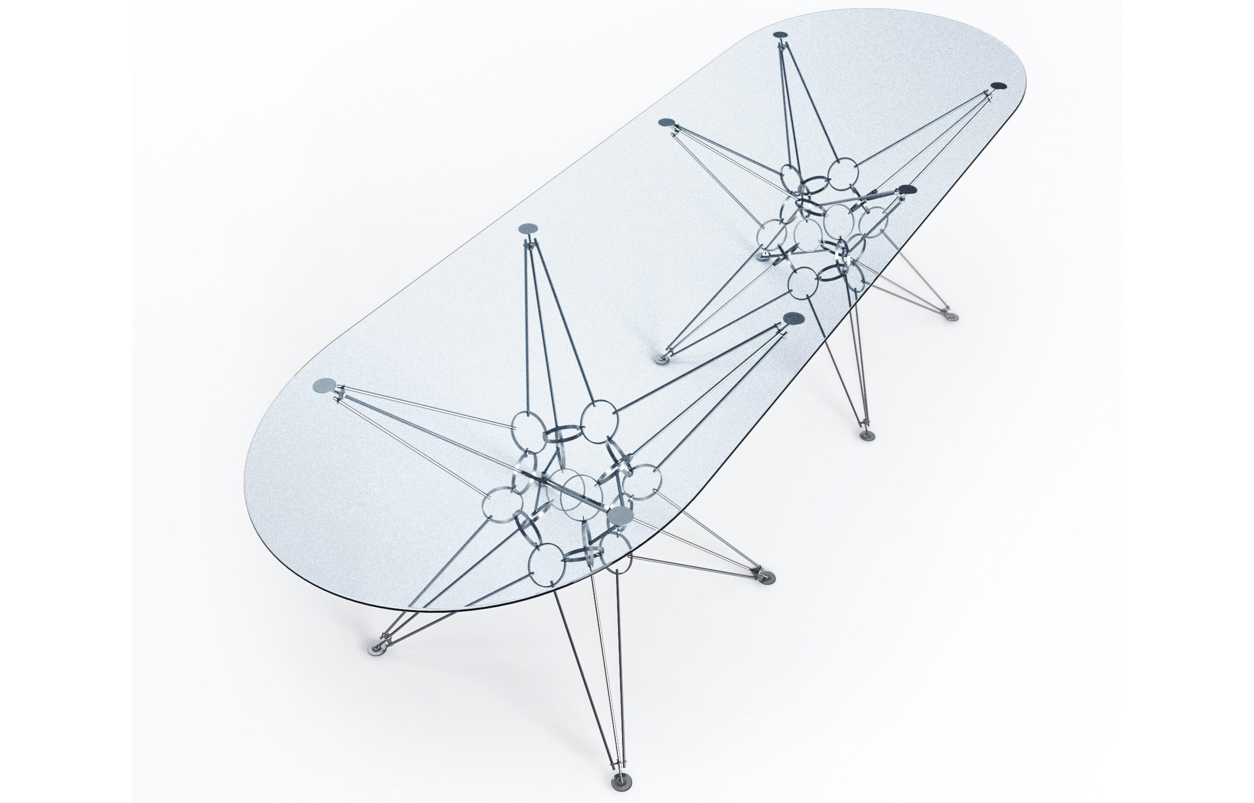 Стол BIGОбеденные столы<br>&amp;lt;div&amp;gt;Материал столешницы: стекло закаленное, толщина 12 мм, Optiwhite.&amp;lt;div&amp;gt;Материал основания: хромированная сталь.&amp;lt;/div&amp;gt;&amp;lt;/div&amp;gt;<br><br>Material: Металл<br>Length см: None<br>Width см: 240<br>Depth см: 90<br>Height см: 73