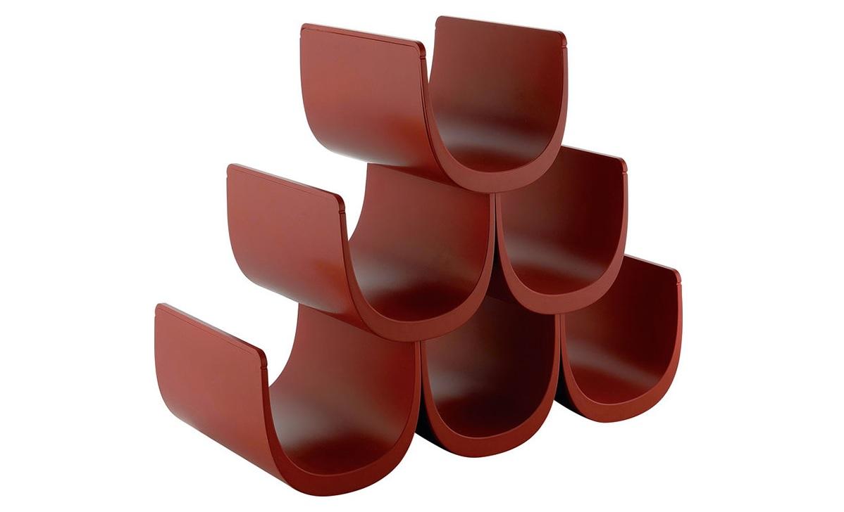 Подставка для винных бутылок NoeПодставки и доски<br>Стильное и функциональное решение для хранения винной коллекции. Размеры этого стеллажа можно уменьшать или увеличивать в зависимости от количества винных бутылок: конструкция состоит из 6-ти отдельных модулей, скрепляющихся друг с другом за дно и края.<br>Собранный стеллаж можно как установить на пол или на полку, так и подвесить к стене: стильный предмет станет великолепным украшением любого интерьера.&amp;lt;div&amp;gt;&amp;lt;br&amp;gt;&amp;lt;/div&amp;gt;&amp;lt;div&amp;gt;В комплект входит 6 модулей.&amp;lt;/div&amp;gt;&amp;lt;div&amp;gt;Материал: термопластик.&amp;lt;/div&amp;gt;&amp;lt;div&amp;gt;Дизайн:  Guilio Lacchetti.&amp;lt;/div&amp;gt;<br><br>Material: Пластик<br>Width см: 34,5<br>Depth см: 15,5<br>Height см: 30