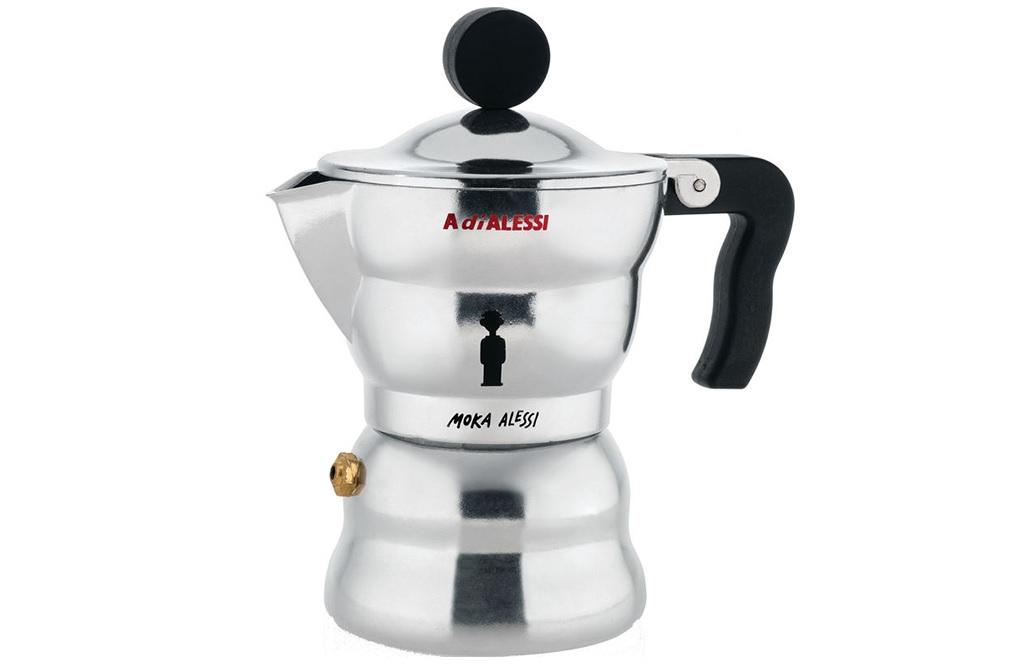 Кофеварка для эспрессо moka alessi (alessi) серебристый 7x14x7 см.