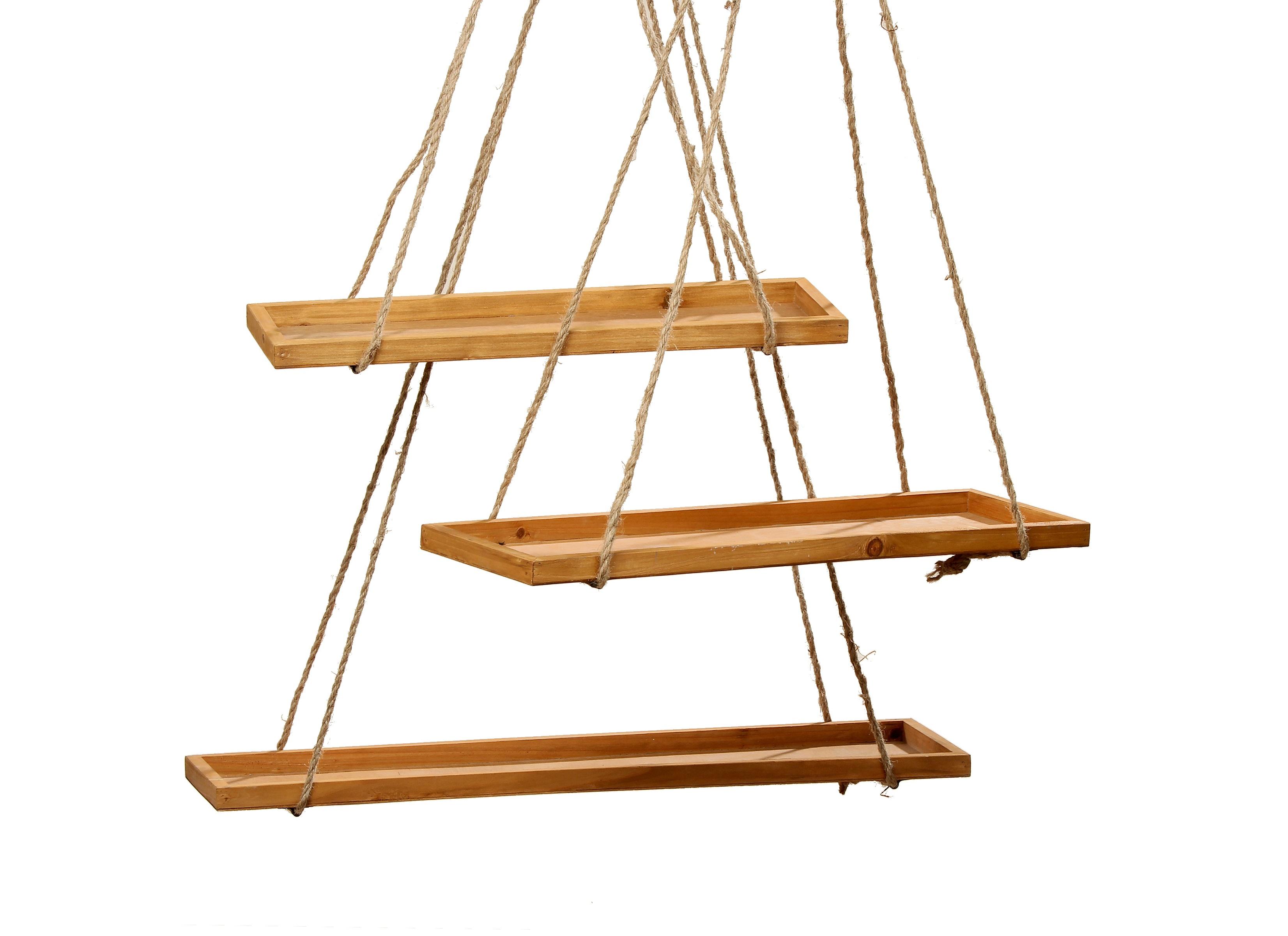 Набор из трех подвесных полокПолки<br>&amp;lt;div&amp;gt;&amp;lt;div&amp;gt;Большая: длина 75, ширина 20, высота 2; (1 шт.)&amp;lt;/div&amp;gt;&amp;lt;div&amp;gt;маленькая: длина 55, ширина 15, высота 2 (2 шт.)&amp;lt;/div&amp;gt;&amp;lt;div&amp;gt;&amp;lt;br&amp;gt;&amp;lt;/div&amp;gt;Материал: дерево (пихта).&amp;lt;/div&amp;gt;<br><br>Material: Дерево<br>Length см: None<br>Width см: 75<br>Depth см: 20<br>Height см: 2