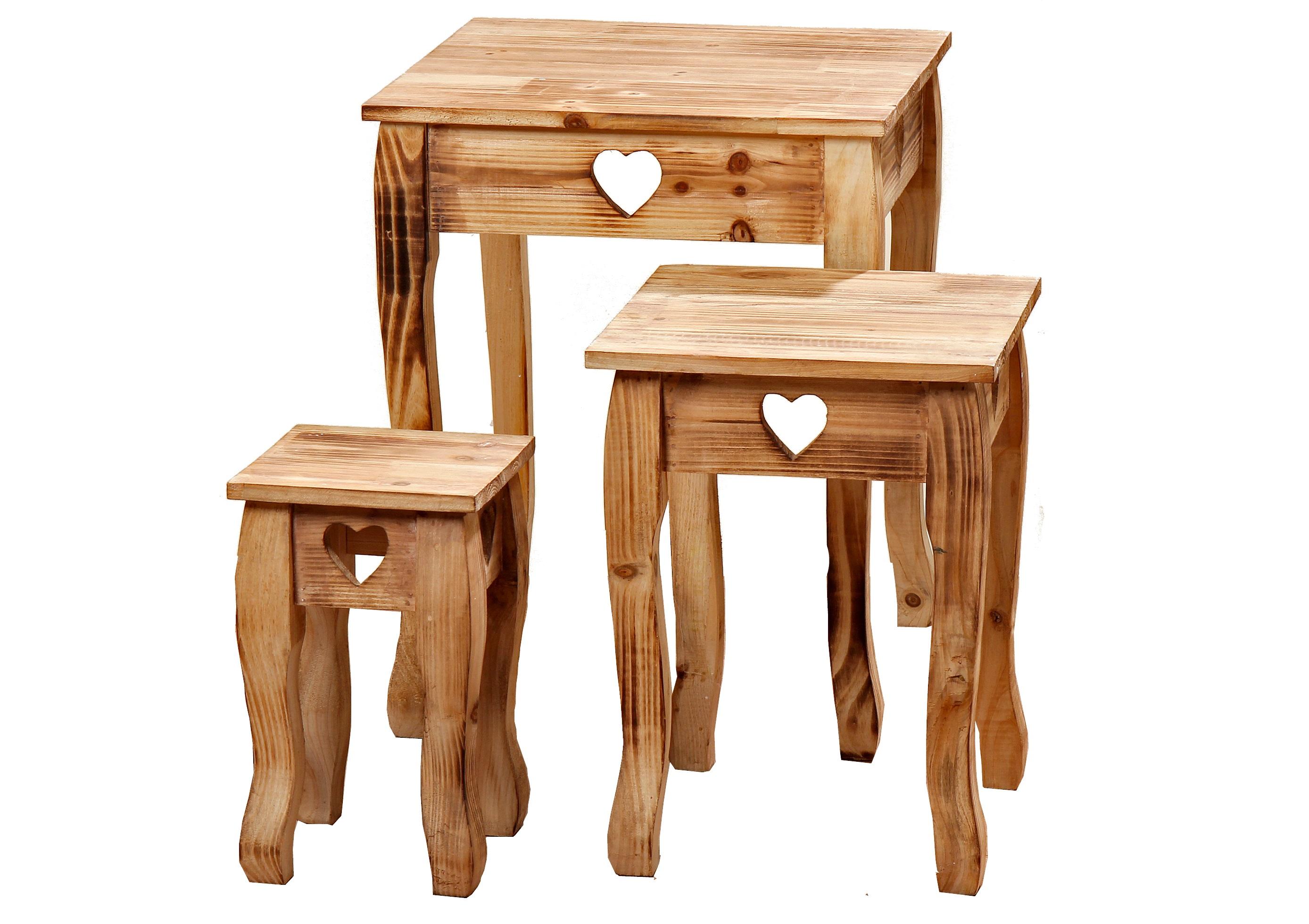 Набор из трех столиков BozenПриставные столики<br>&amp;lt;div&amp;gt;Большой: высота 56;&amp;amp;nbsp;&amp;lt;/div&amp;gt;&amp;lt;div&amp;gt;средний: высота 44;&amp;amp;nbsp;&amp;lt;/div&amp;gt;&amp;lt;div&amp;gt;маленький: высота 33.&amp;amp;nbsp;&amp;lt;/div&amp;gt;&amp;lt;div&amp;gt;&amp;lt;br&amp;gt;&amp;lt;/div&amp;gt;&amp;lt;div&amp;gt;Материал: дерево (пихта).&amp;lt;/div&amp;gt;<br><br>Material: Дерево<br>Ширина см: 36<br>Высота см: 56<br>Глубина см: 36
