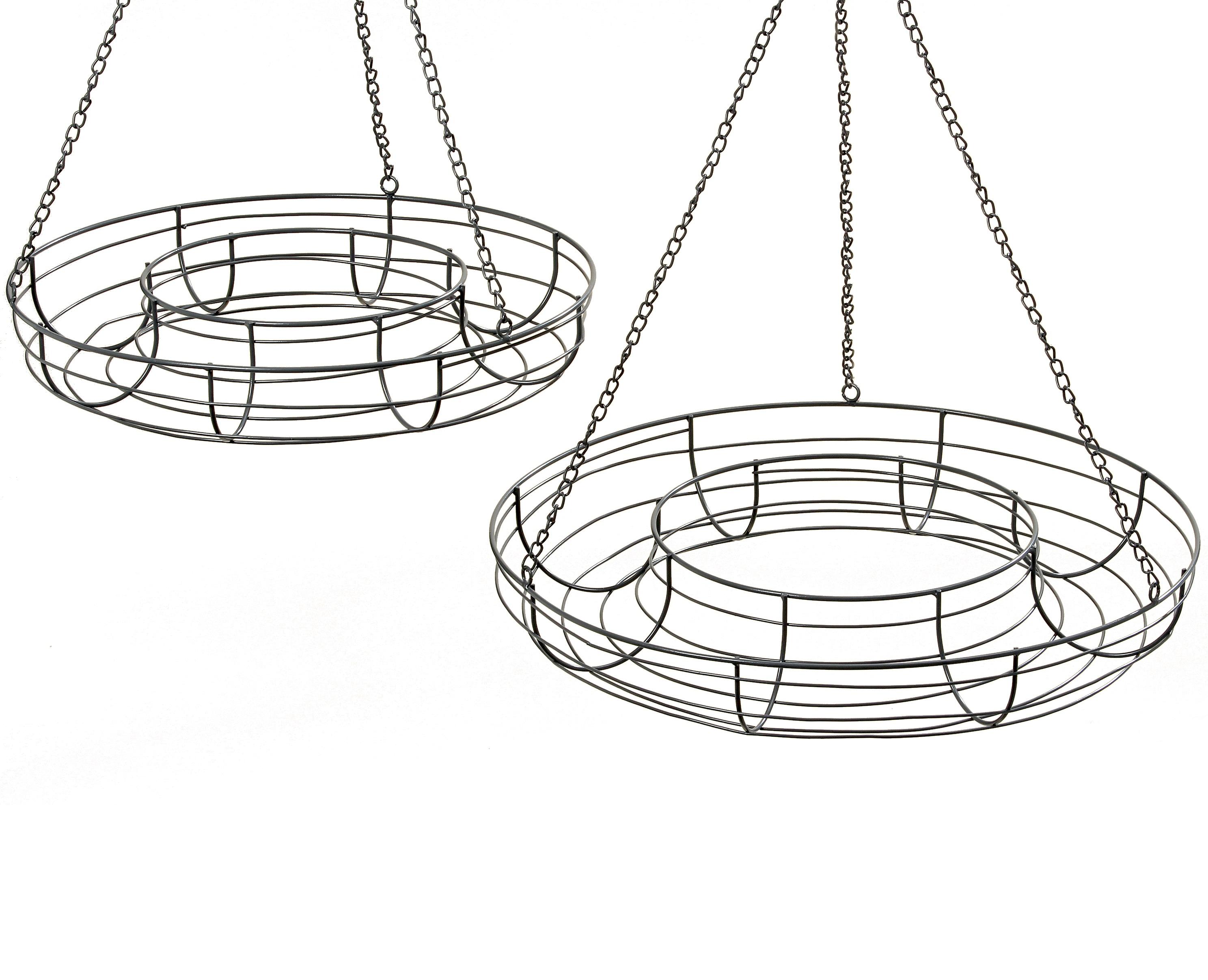 Набор из двух подвесных подставок PetulaКашпо и подставки для дачи и сада<br>Большая: высота 70, диаметр 55;&amp;amp;nbsp;&amp;lt;div&amp;gt;маленькая: высота 70, диаметр 47.&amp;amp;nbsp;&amp;lt;/div&amp;gt;&amp;lt;div&amp;gt;&amp;lt;br&amp;gt;&amp;lt;/div&amp;gt;<br><br>Material: Железо<br>Length см: None<br>Width см: None<br>Depth см: None<br>Height см: 70<br>Diameter см: 55