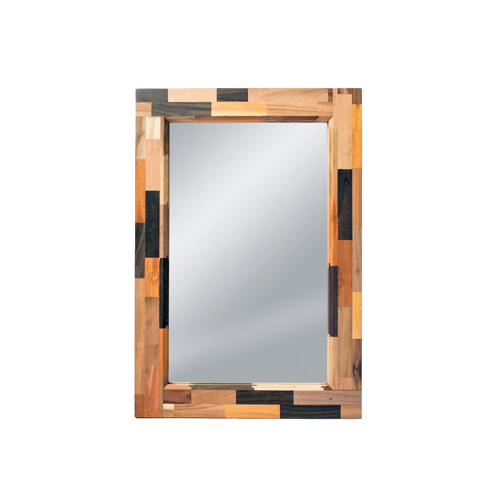 Зеркало DekalbНастенные зеркала<br>&amp;lt;div&amp;gt;Необычный и запоминающийся орнамент зеркала Dekalb – это своеобразный пазл, собранный из множества брусков разных пород дерева.&amp;amp;nbsp;&amp;lt;/div&amp;gt;&amp;lt;div&amp;gt;&amp;lt;br&amp;gt;&amp;lt;/div&amp;gt;&amp;lt;div&amp;gt;Dekalb является очередным доказательством того, что природа способна творить чудеса. А от человека требуется только немного воображения и мастерства, чтобы обыденная, казалось бы, вещь стала настоящим произведением искусства. Которое может стать одной из главных изюминок в интерьере вашего дома.&amp;lt;/div&amp;gt;&amp;lt;div&amp;gt;&amp;lt;br&amp;gt;&amp;lt;/div&amp;gt;<br><br>Material: Тик<br>Length см: None<br>Width см: 55<br>Depth см: 4<br>Height см: 80<br>Diameter см: None