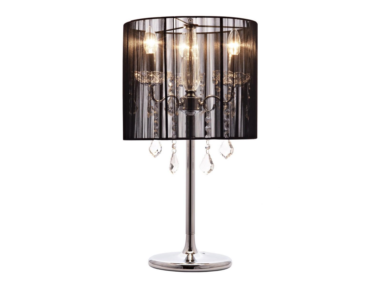 Напольный светильник Creative CreationsНапольные светильники<br>Полупрозрачный чёрный тканевый абажур, украшенный хрустальными подвесками, и элегантное основание из хромированного металла придают особое очарование этой изящной настольной лампе в стиле гламур. Удивительная гармония материалов и форм идеально выполняет декоративно-оформительскую функцию, придавая шарм любому помещению.&amp;lt;div&amp;gt;&amp;lt;br&amp;gt;&amp;lt;/div&amp;gt;&amp;lt;div&amp;gt;&amp;lt;div&amp;gt;Вид цоколя: Е14&amp;lt;/div&amp;gt;&amp;lt;div&amp;gt;Мощность лампы: 40W&amp;lt;/div&amp;gt;&amp;lt;div&amp;gt;Количество ламп: 3&amp;lt;/div&amp;gt;&amp;lt;div&amp;gt;Наличие ламп: нет&amp;lt;/div&amp;gt;&amp;lt;/div&amp;gt;<br><br>Material: Металл<br>Height см: 74<br>Diameter см: 35