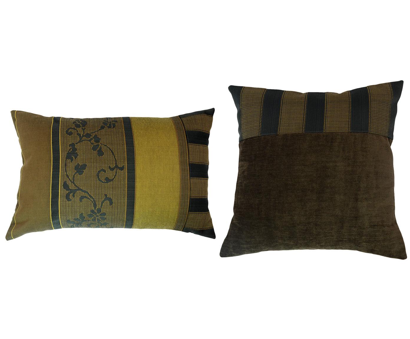 Комплект подушек Montcerrat (2шт)Квадратные подушки и наволочки<br>Комплект декоративных  подушек. Чехол съемный.<br><br>Material: Вискоза<br>Length см: 40<br>Width см: 60.4<br>Depth см: 15