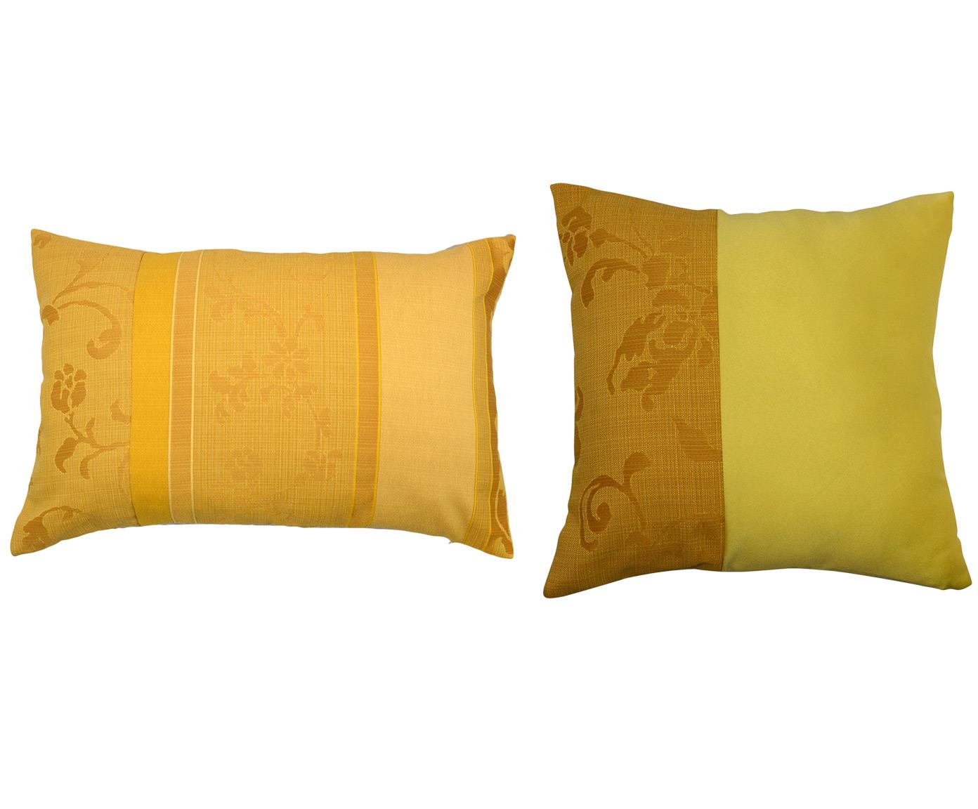 Комплект подушек Tender Yellow (2шт)Квадратные подушки<br>Комплект декоративных  подушек. Чехол съемный.<br><br>Material: Вискоза<br>Length см: 40<br>Width см: 60.4<br>Depth см: 15